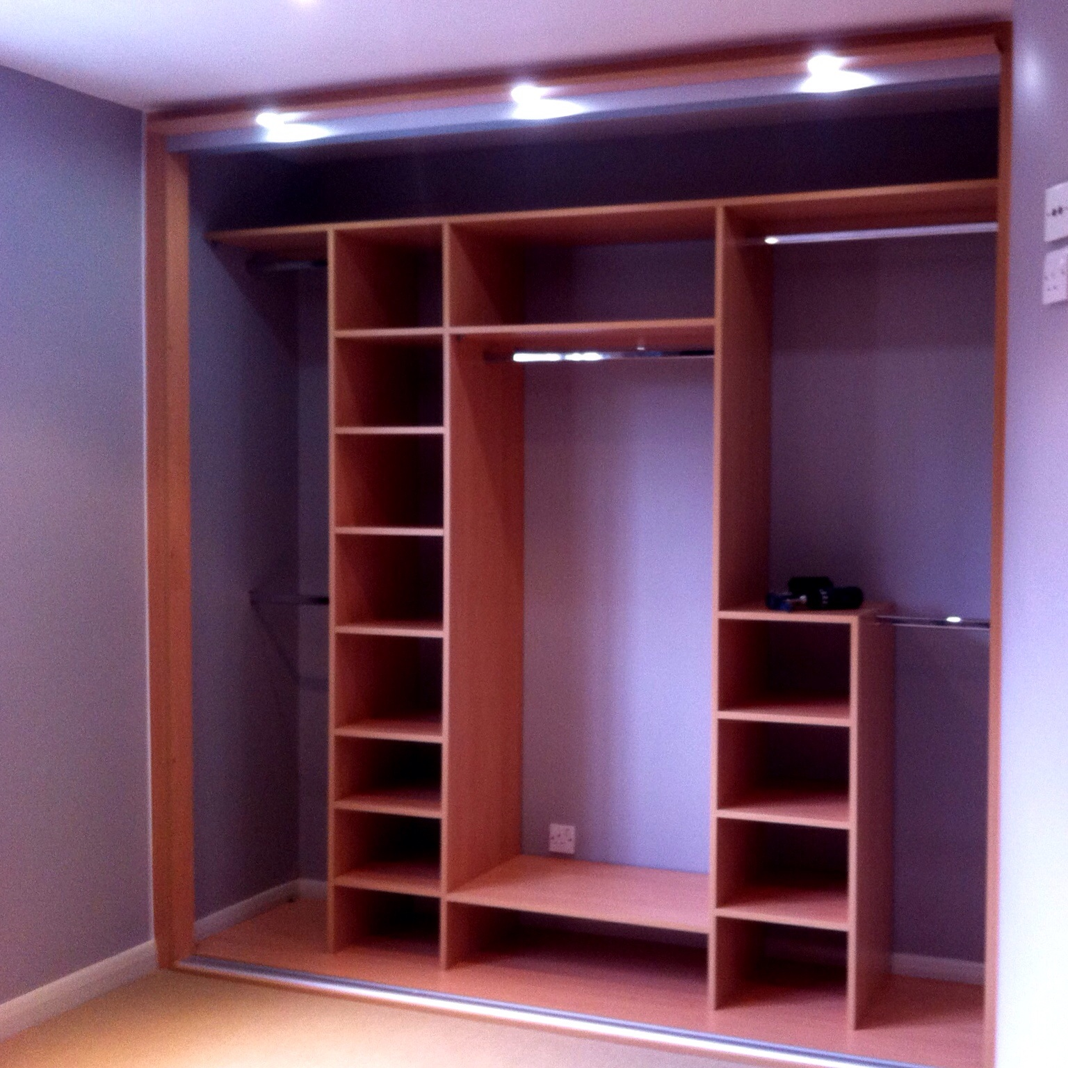 The tidiest our new wardrobes are ever likely to be!