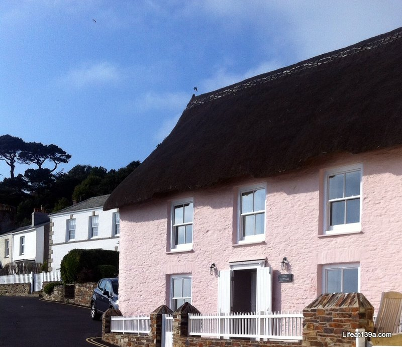 PRETTY PINK THATCHED COTTAGE