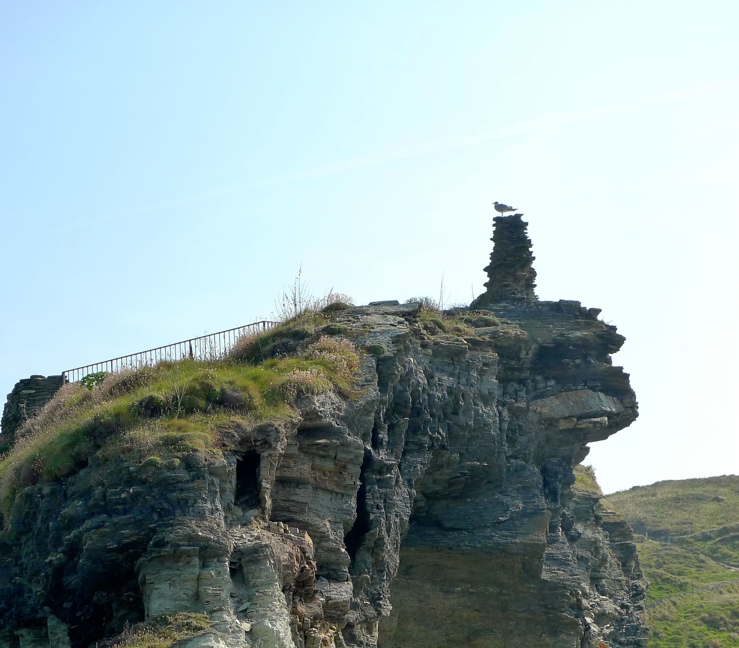 Medieval section of Tintagel Castle