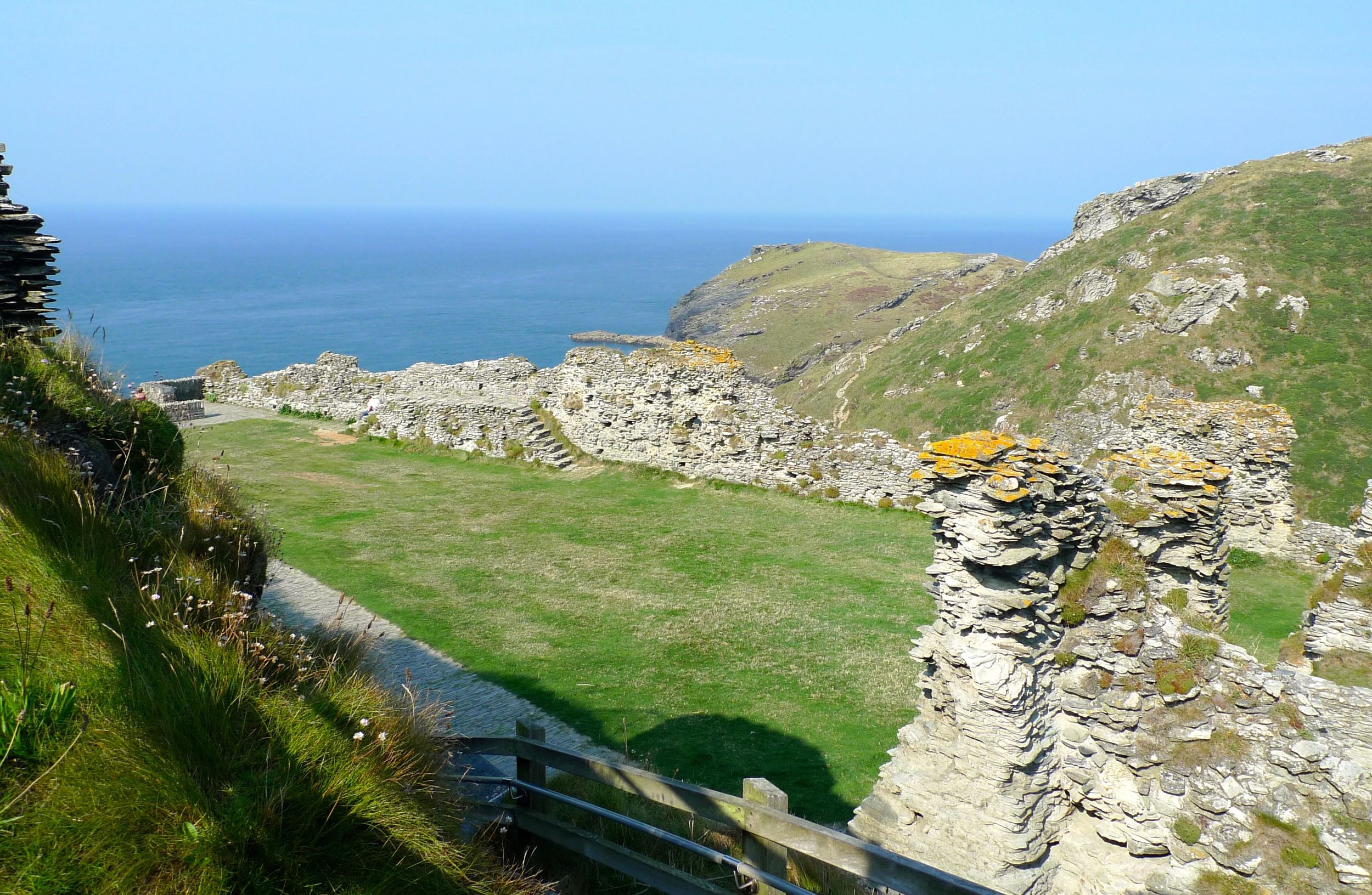 Medieval courtyard at Tintagel Castle