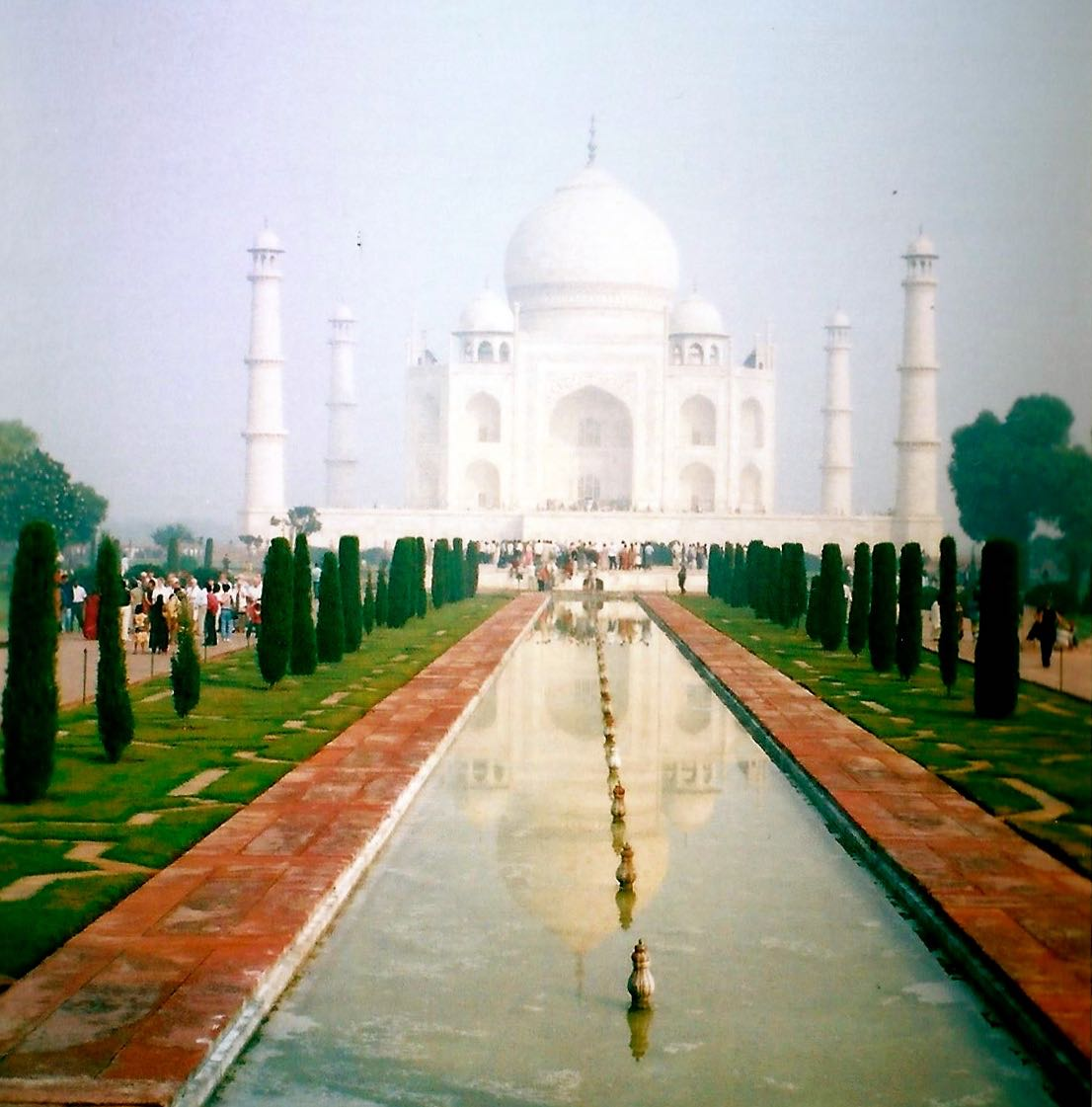 THE CLASSIC VIEW OF THE TAJ MAHAL