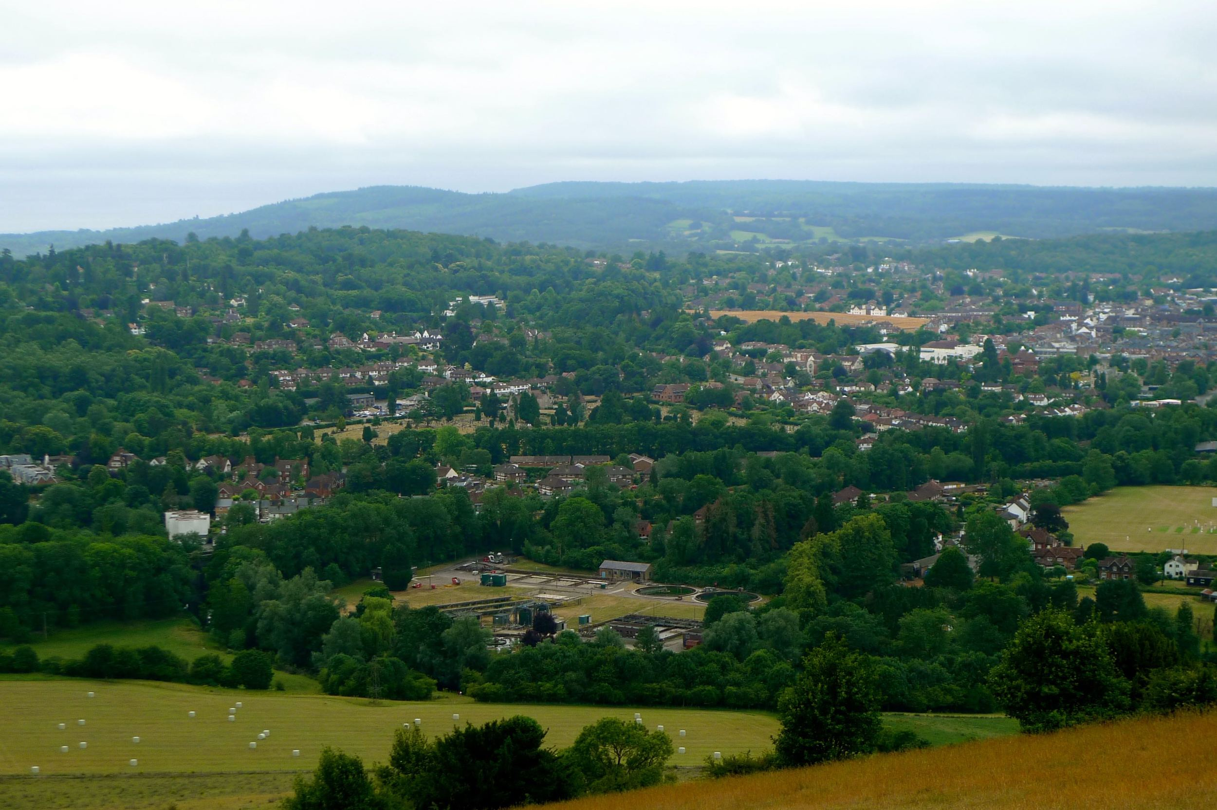 LEITH HILL, SIX MILES IN THE DISTANCE