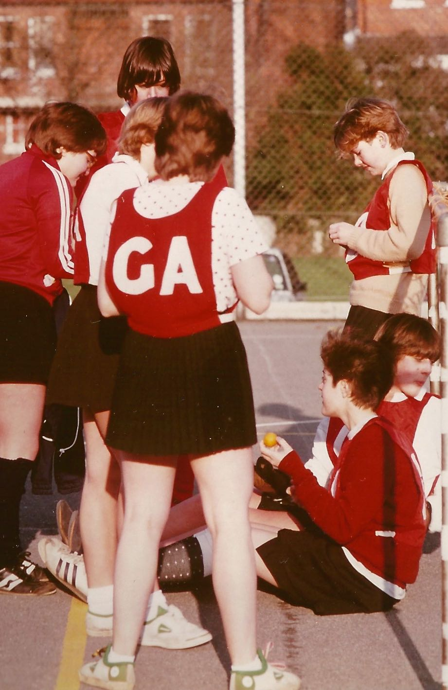 SCHOOL NETBALL: PLAYING GOAL ATTACK IN 1982