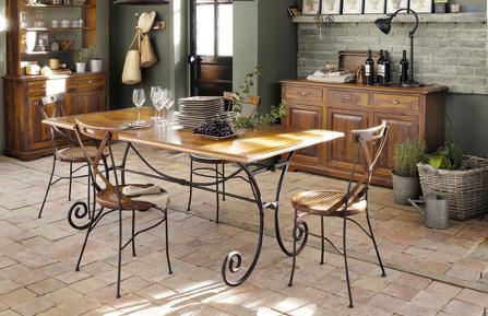 Image source:  Lubéron table from Maisons du Monde