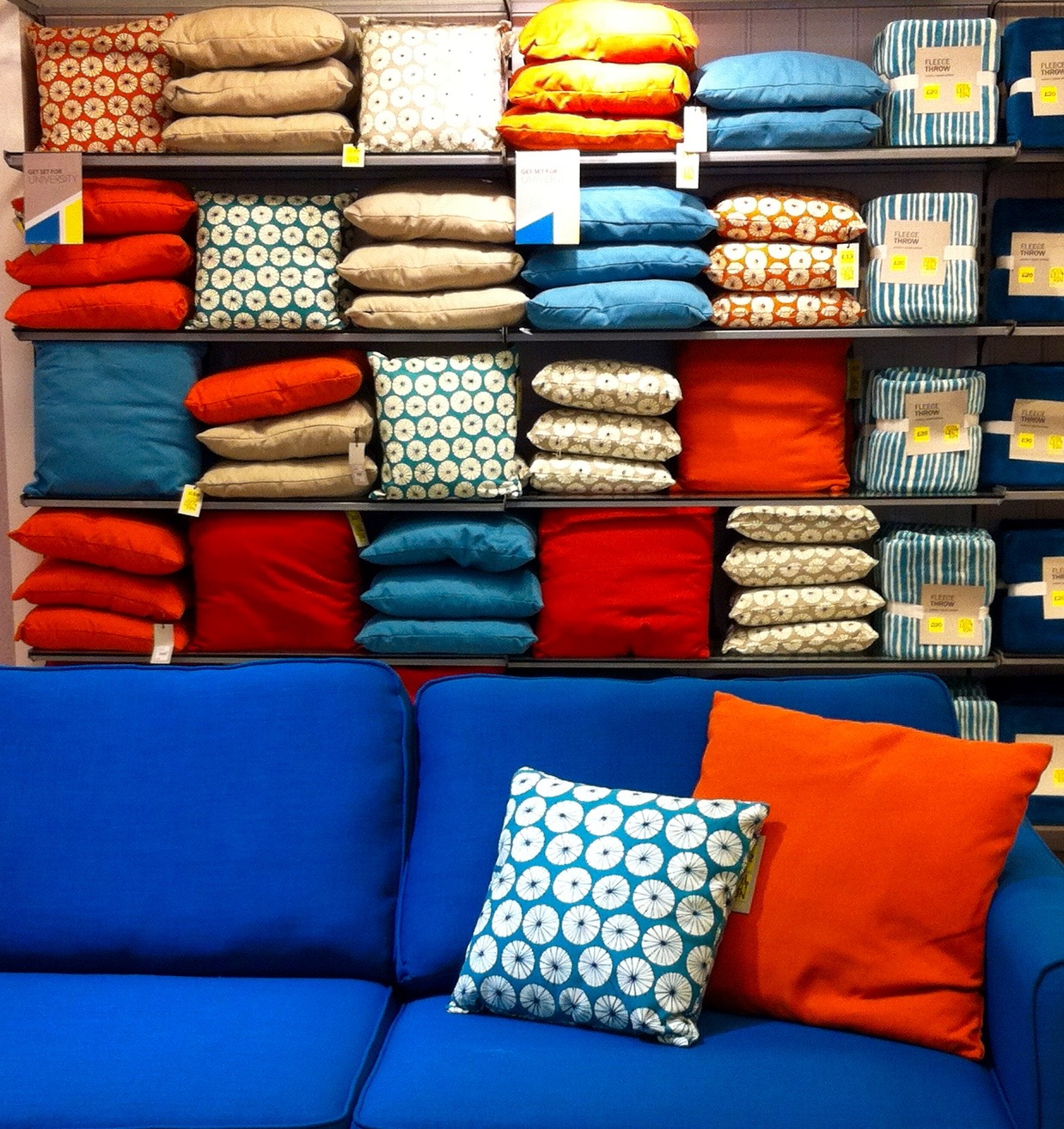 CUSHIONS IN DEBENHAMS