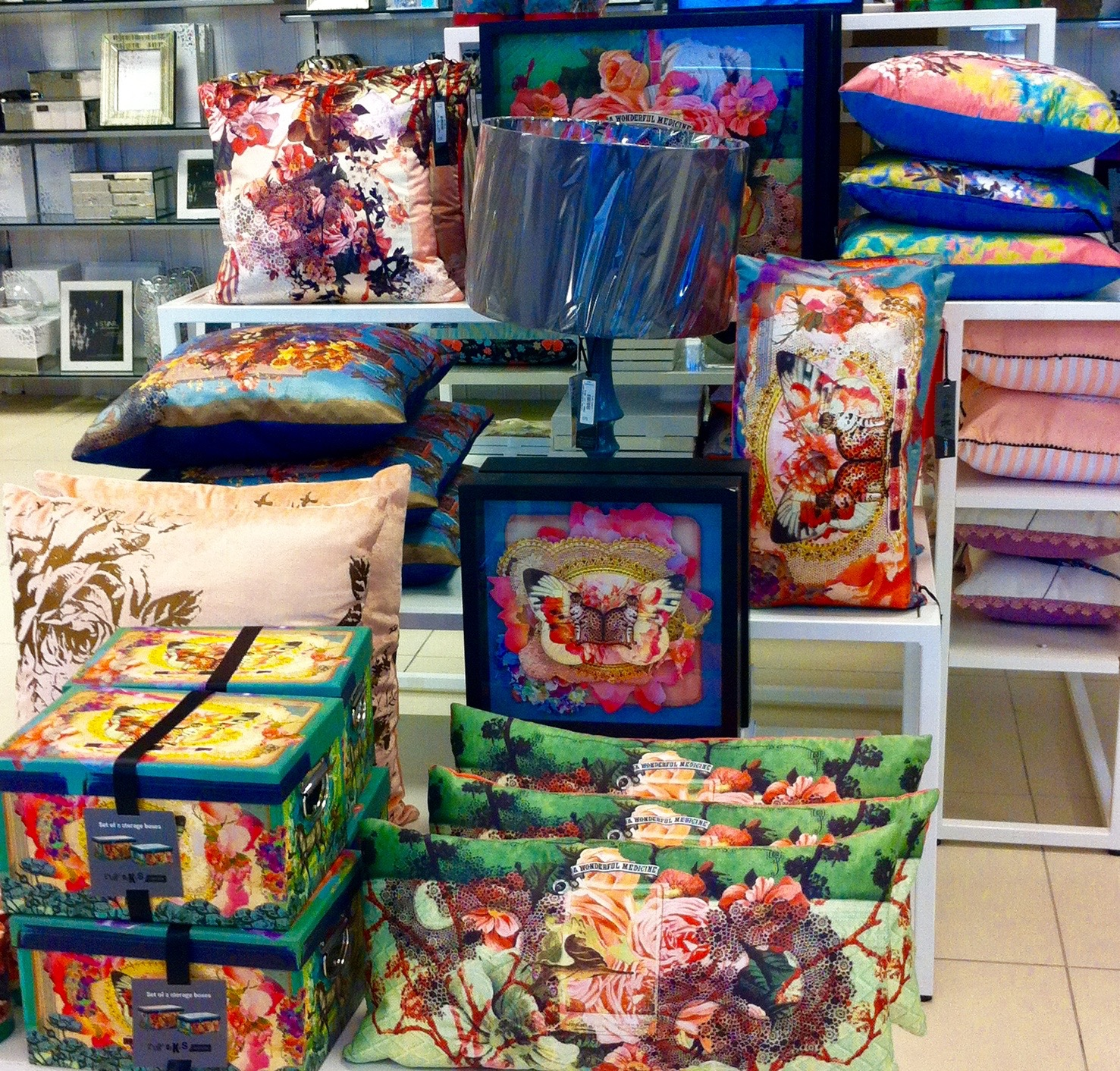 AND THERE'S FLORAL CUSHIONS TOO (DEBENHAMS)
