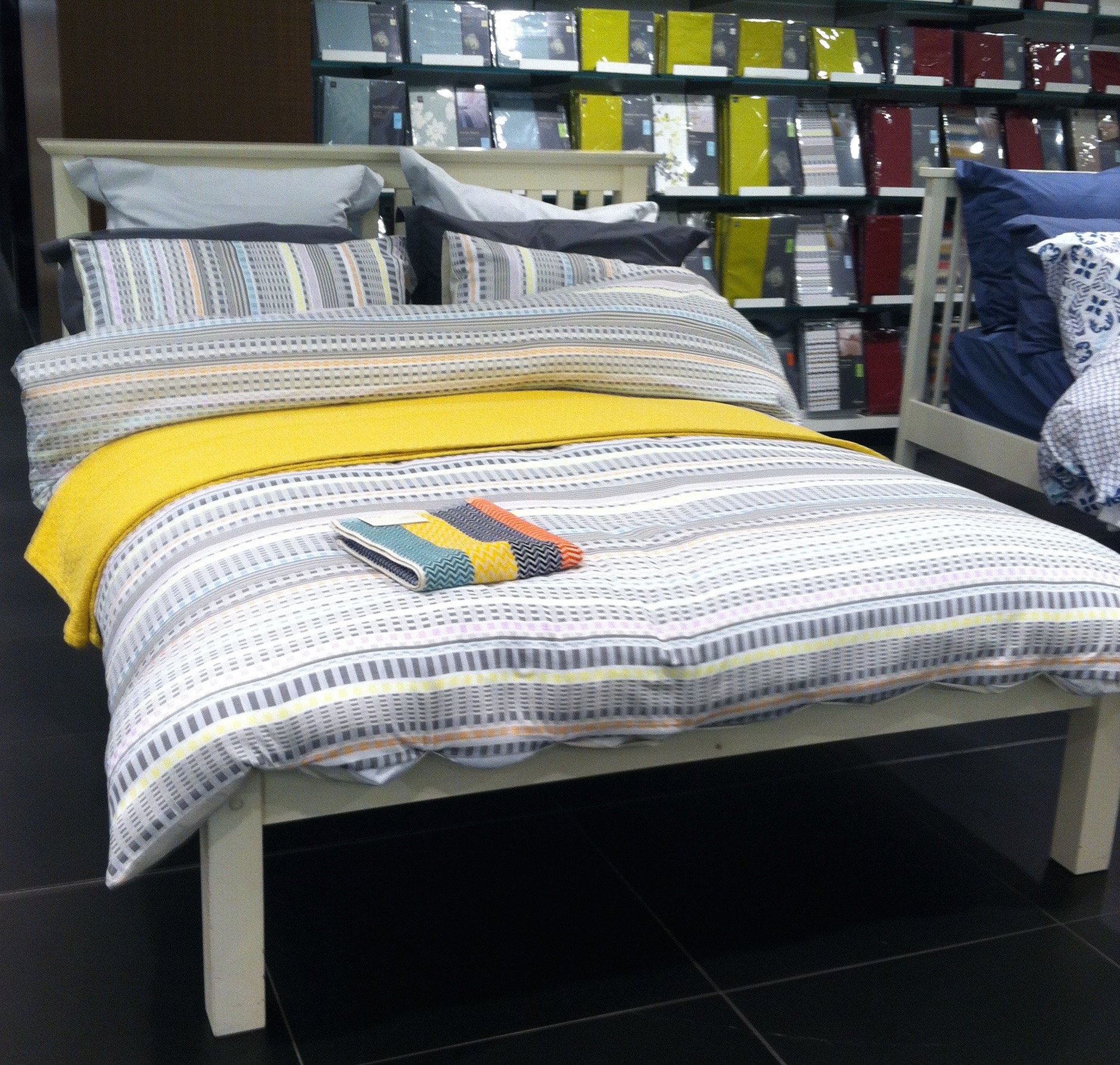 CALMING BUT STILL COLOURFUL BEDLINEN IN HOUSE OF FRASER
