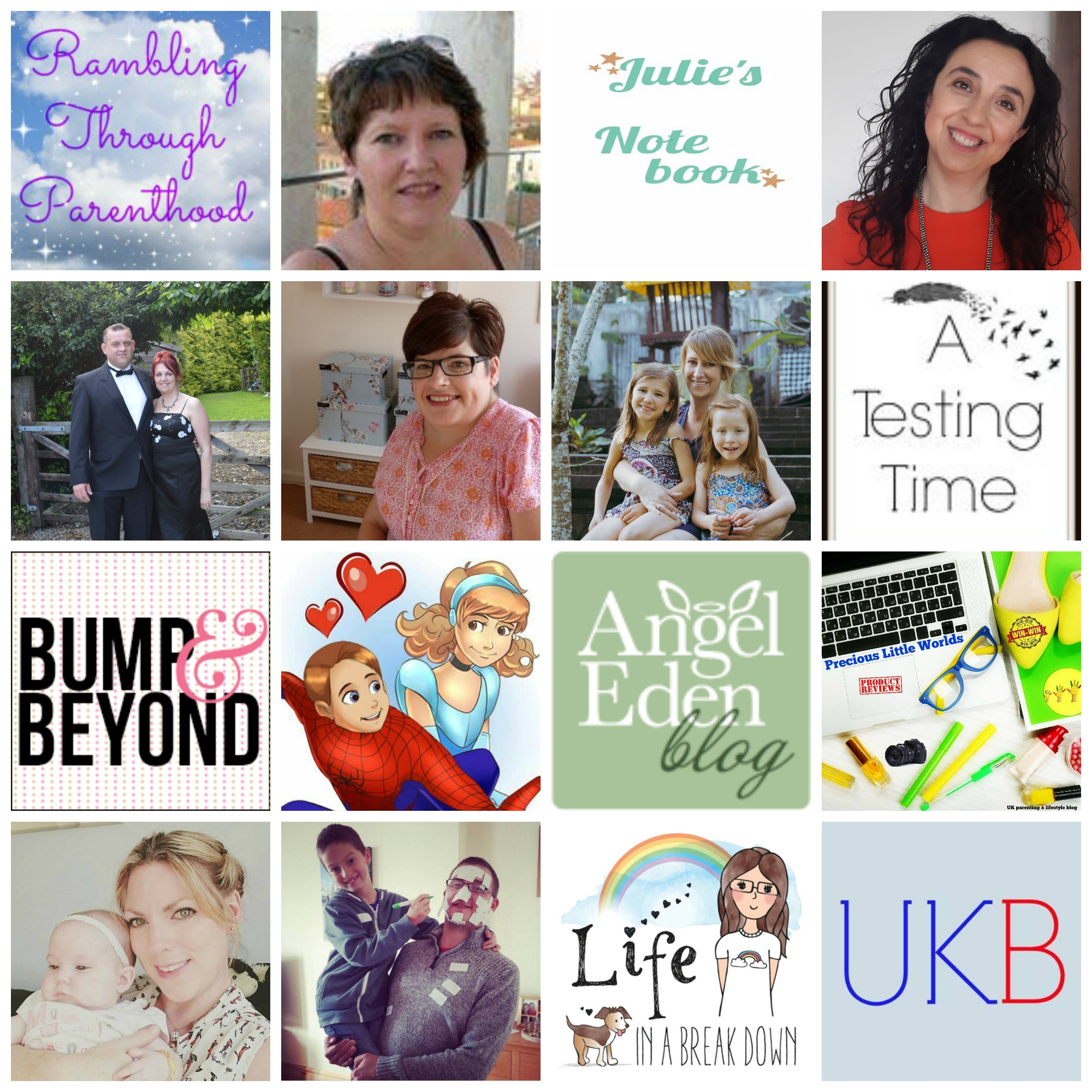 Rambling Through Parenthood  |   Life at 139a   |  Julie's Notebook  |  Spanish Mummy  |  Hex Mum  |  Garden, Tea , Cakes and Me  |  Mummy's Little Monkey  |  A Testing Time  |  Bump And Beyond  |  Emmy's Mummy  |  Angel Eden Blog  |  Precious Little Worlds  |  All The Beautiful Things  |  Hubby Helps  |  Life in a Break Down  |  UK Bloggers  |  One Frazzled Mum