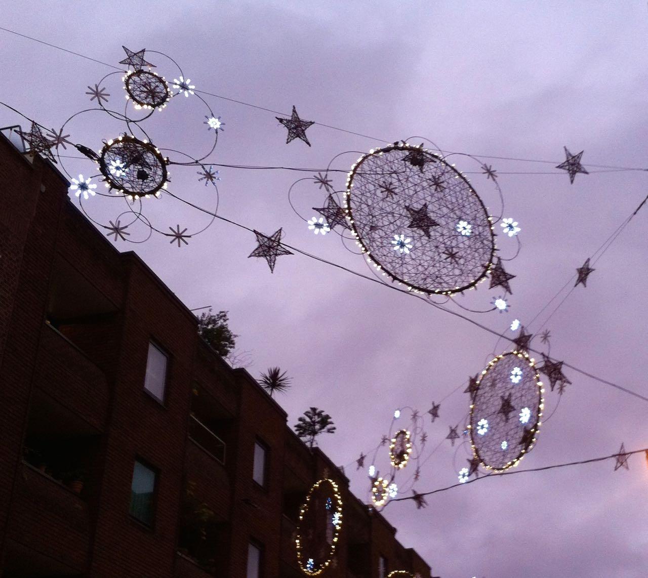 CHRISTMAS LIGHTS AT SEVEN DIALS