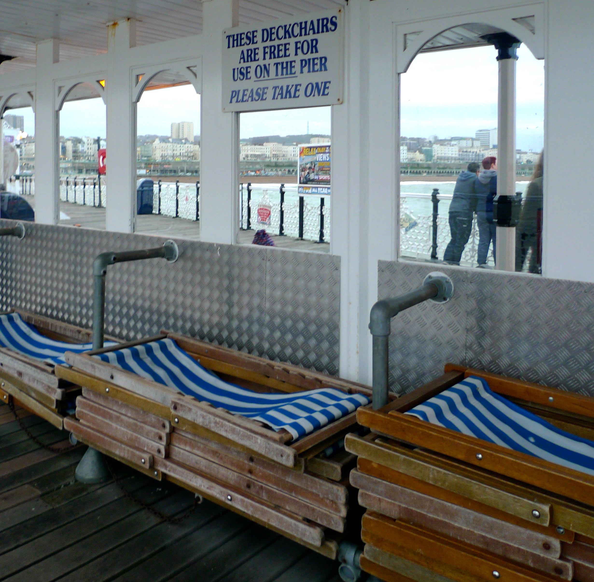 THERE WEREN'T MANY TAKERS FOR DECKCHAIRS EITHER...