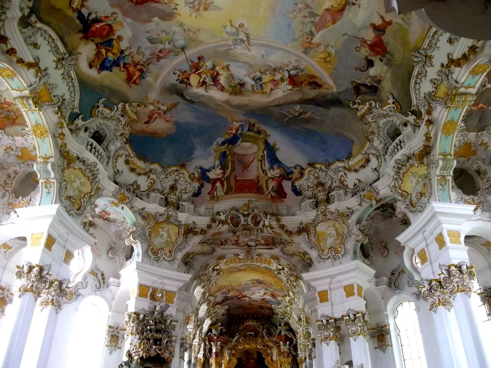 June: The highly ornate and completely unexpected Wieskirche