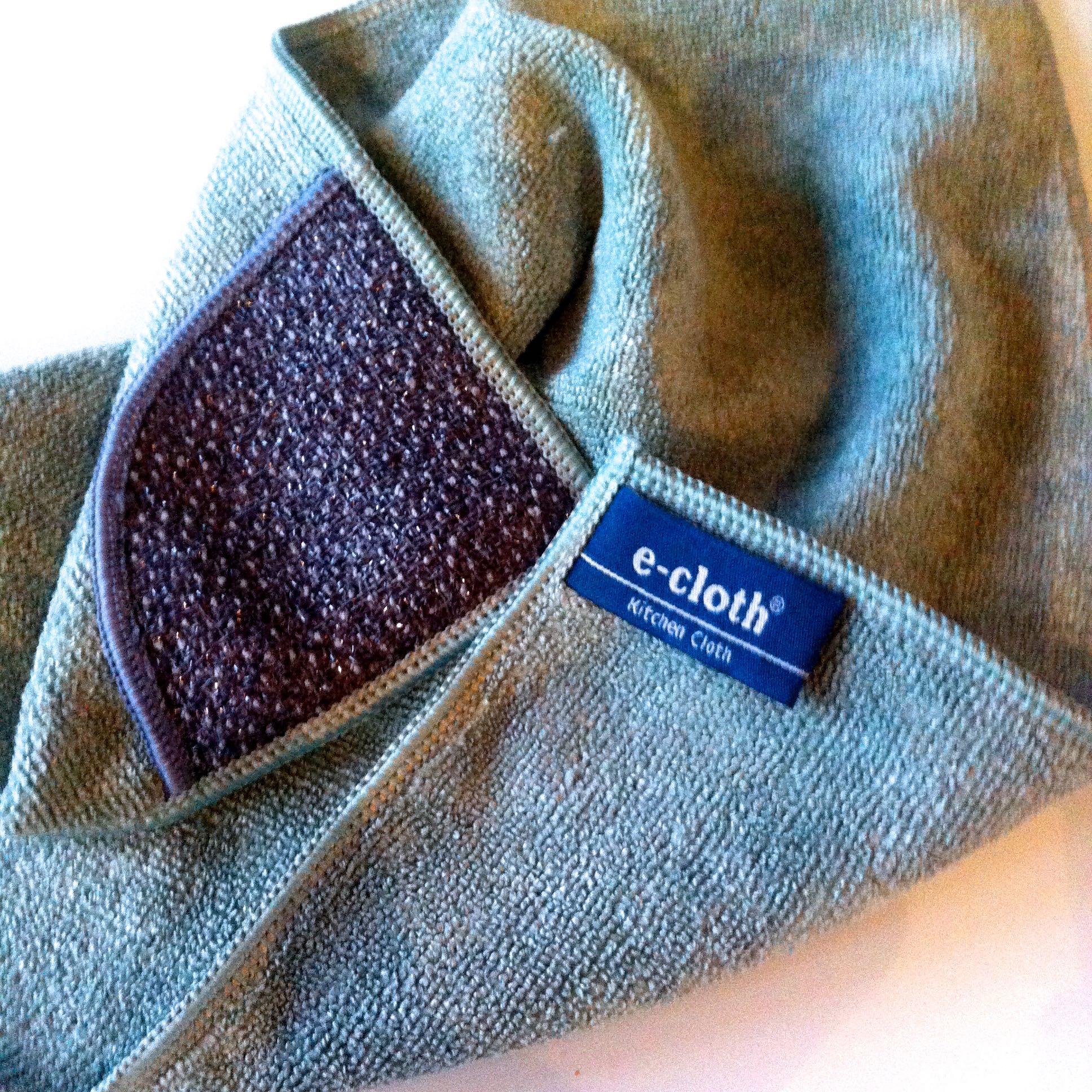 THE KITCHEN E-CLOTH - WITH A HANDY SCRUBBING CORNER