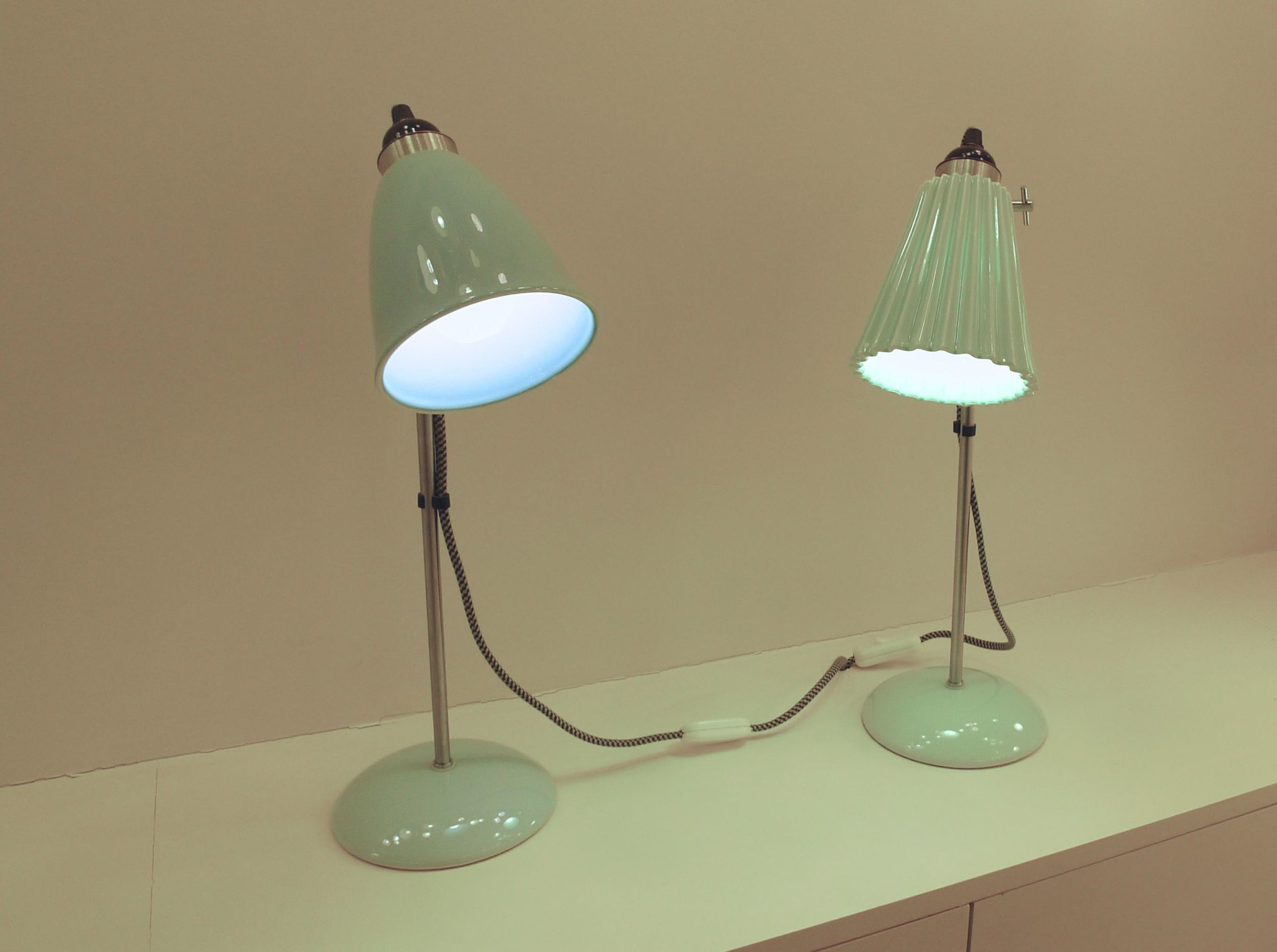 PALE GREEN LAMPS