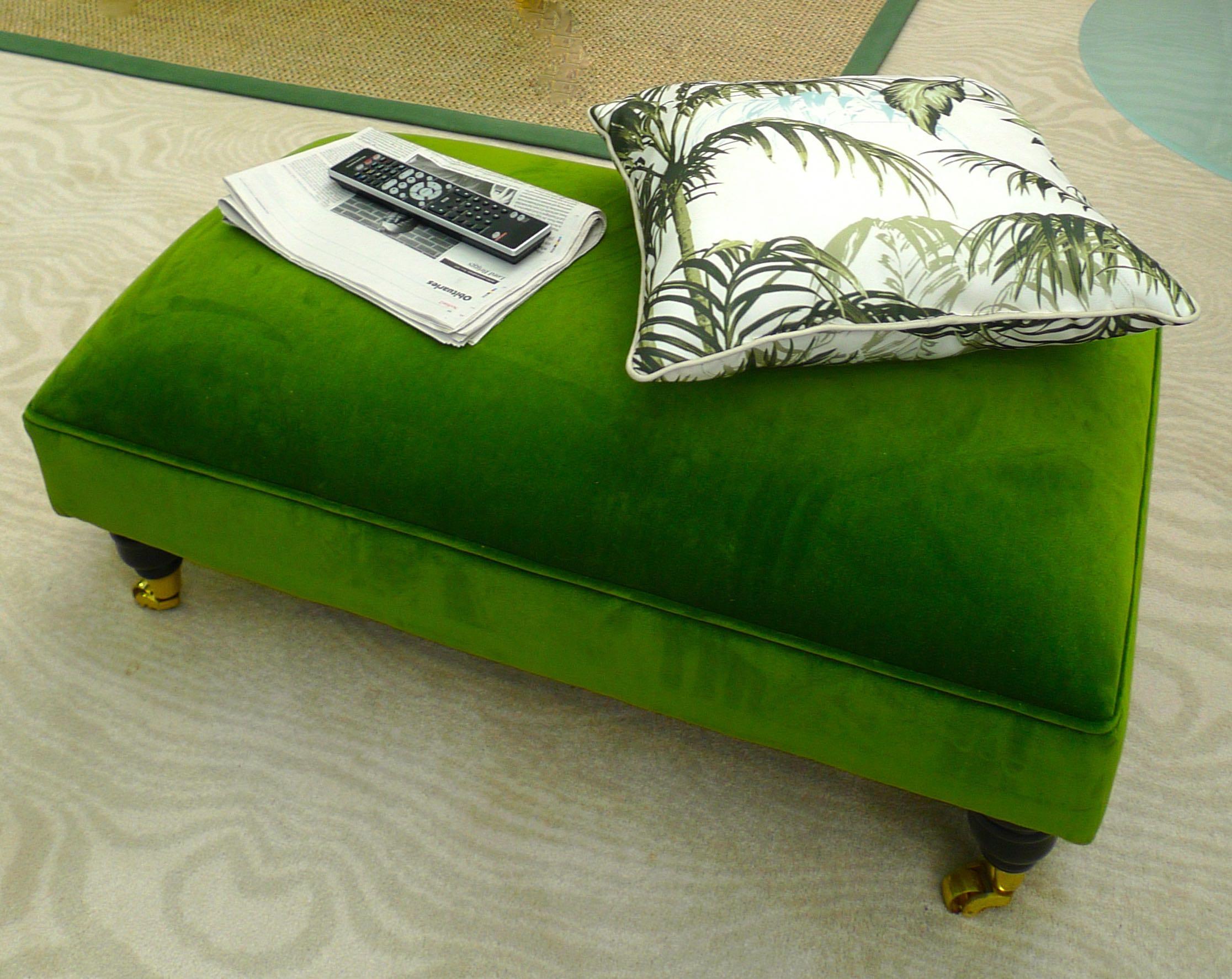 gorgeously green pouffe