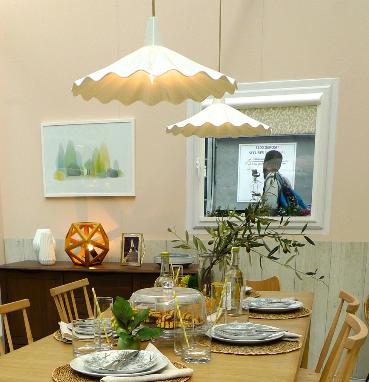 a meadow dining room