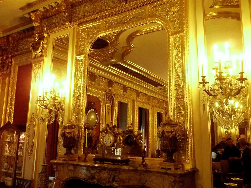 ADMIRING THE GOLD SALOON
