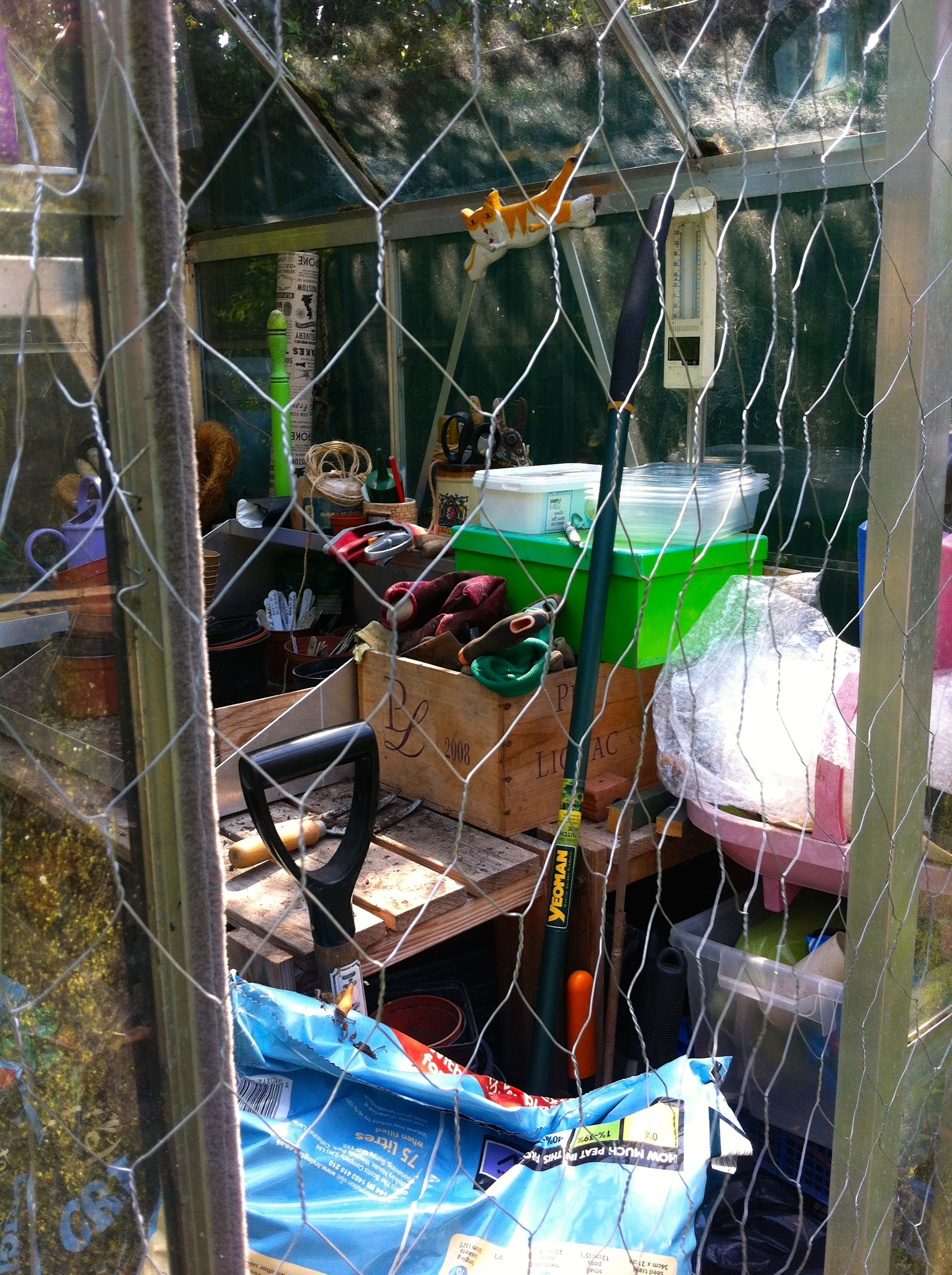 We were almost stumped as we tried to attach it to the top of the greenhouse door