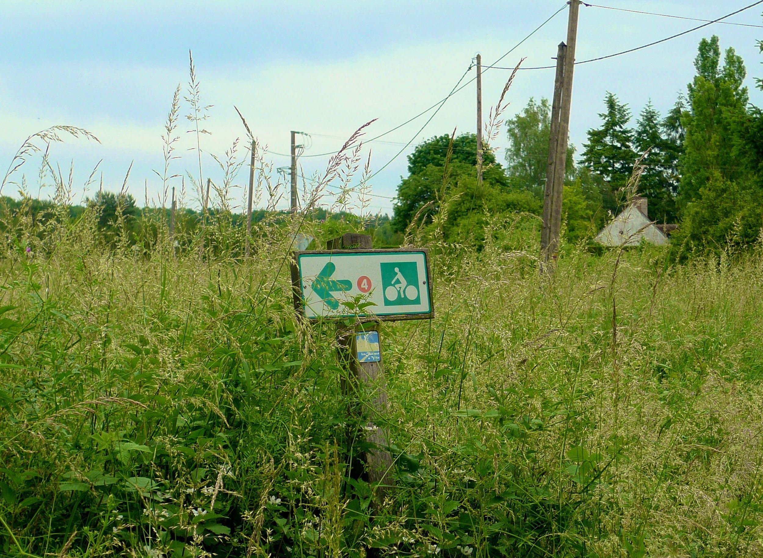 ONE OF THE MANY LOIRE A VELO SIGNS WE FOLLOWED