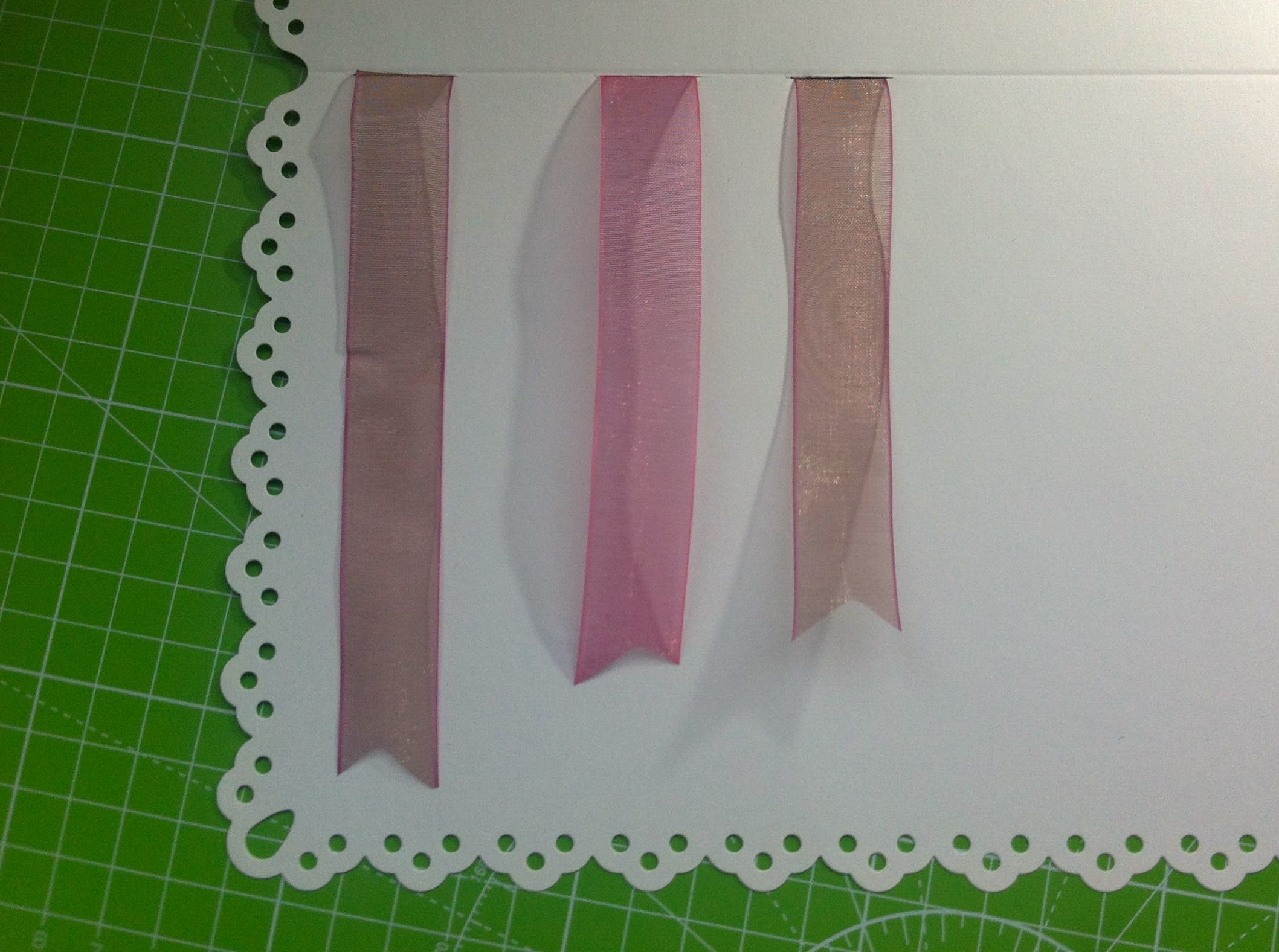 laying out the ribbon