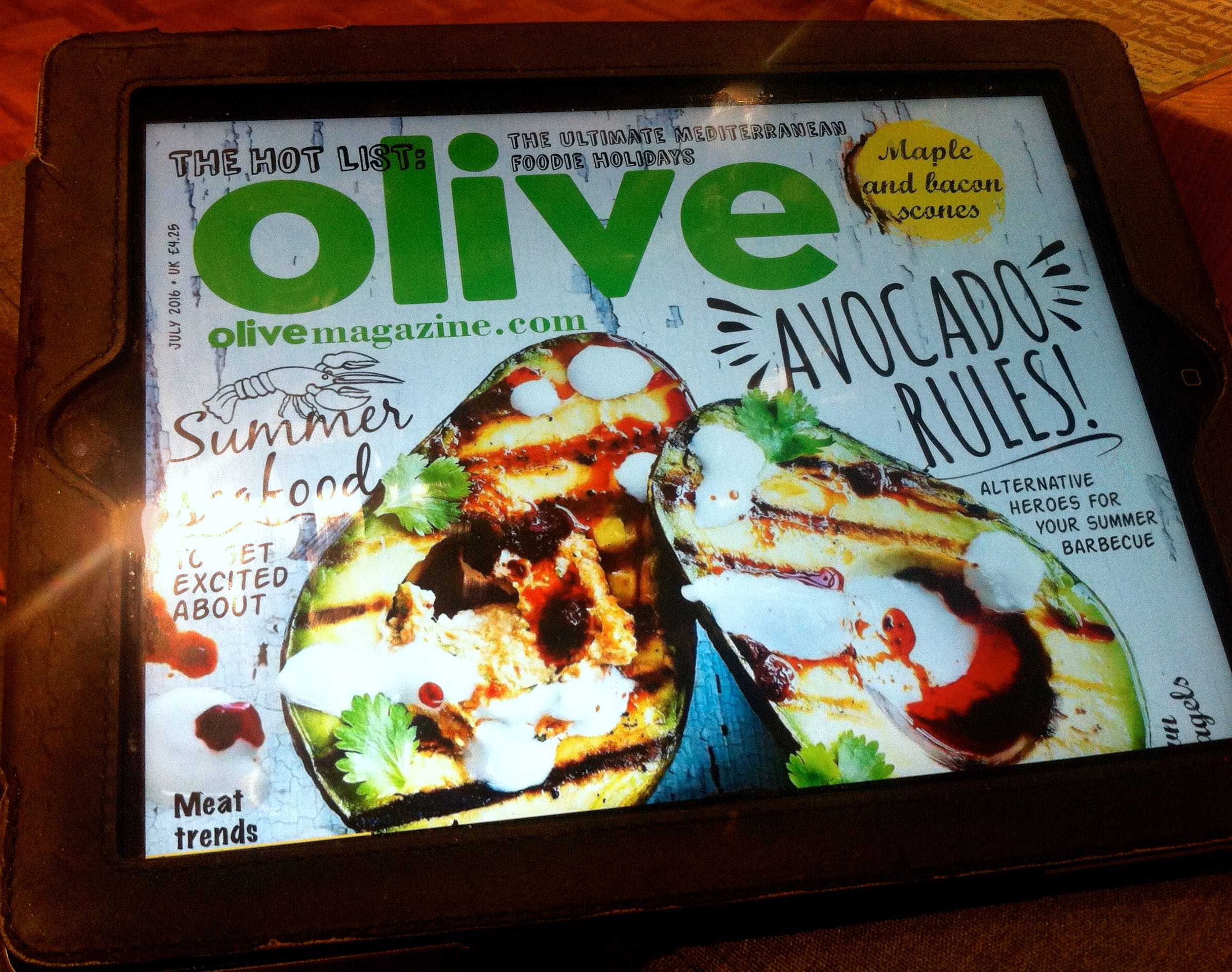 Olive magazine is one of the many available digitally on Readly