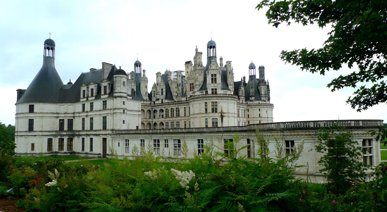 Chateau de chambord and ferns, not the shot that everyone has