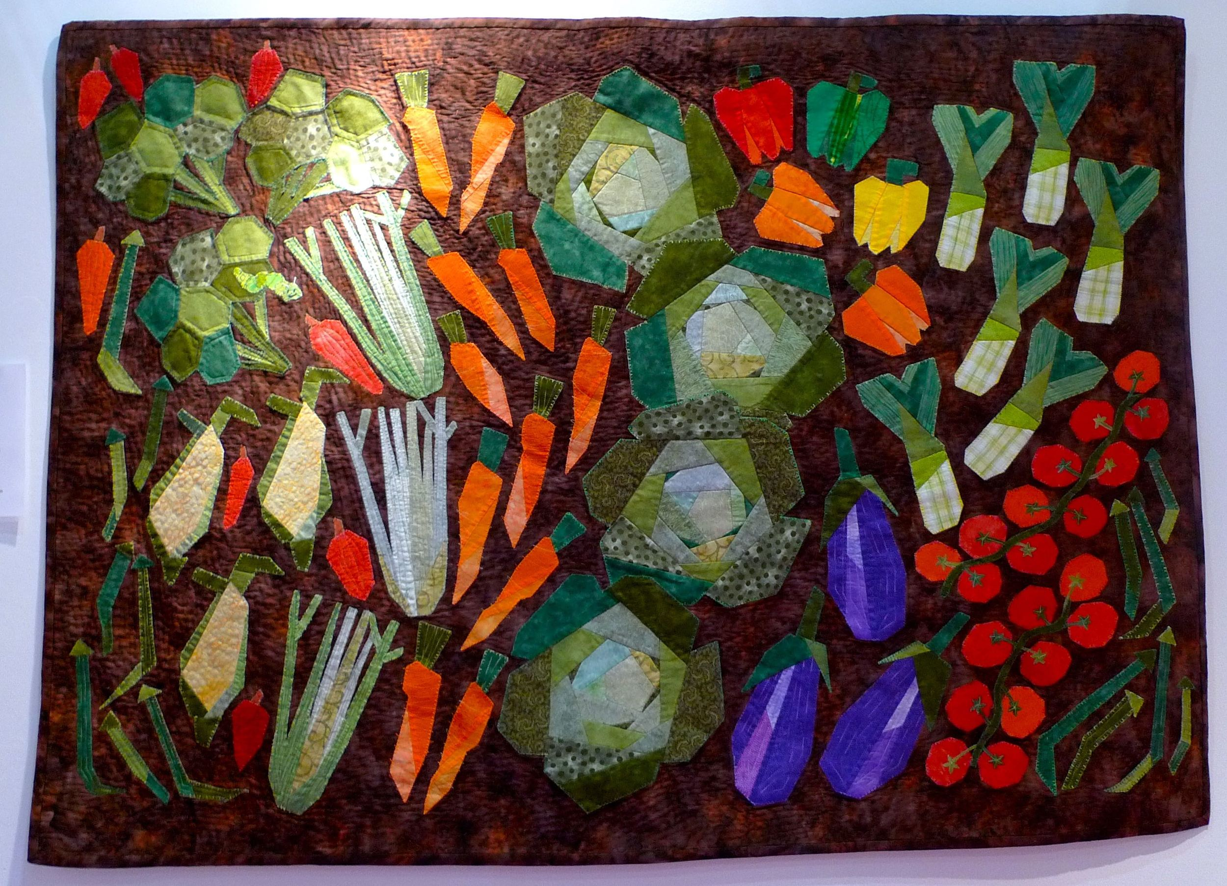 A quilted vegetable plot