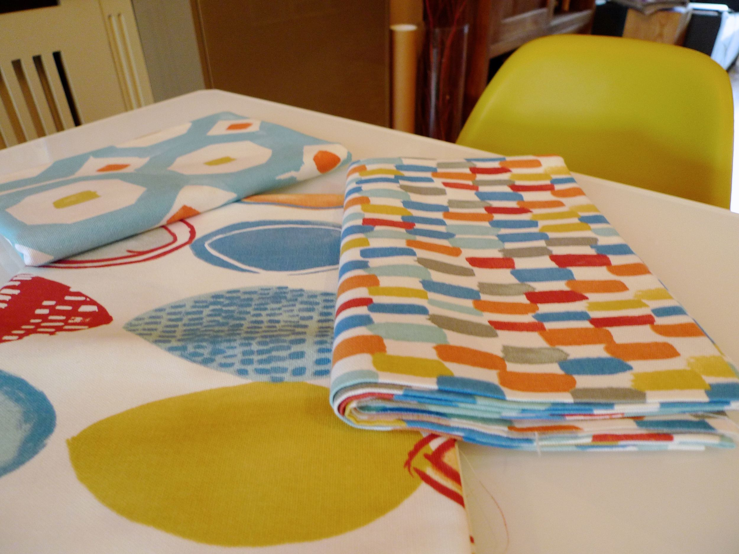 material for place mats and napkins from prestigious textiles