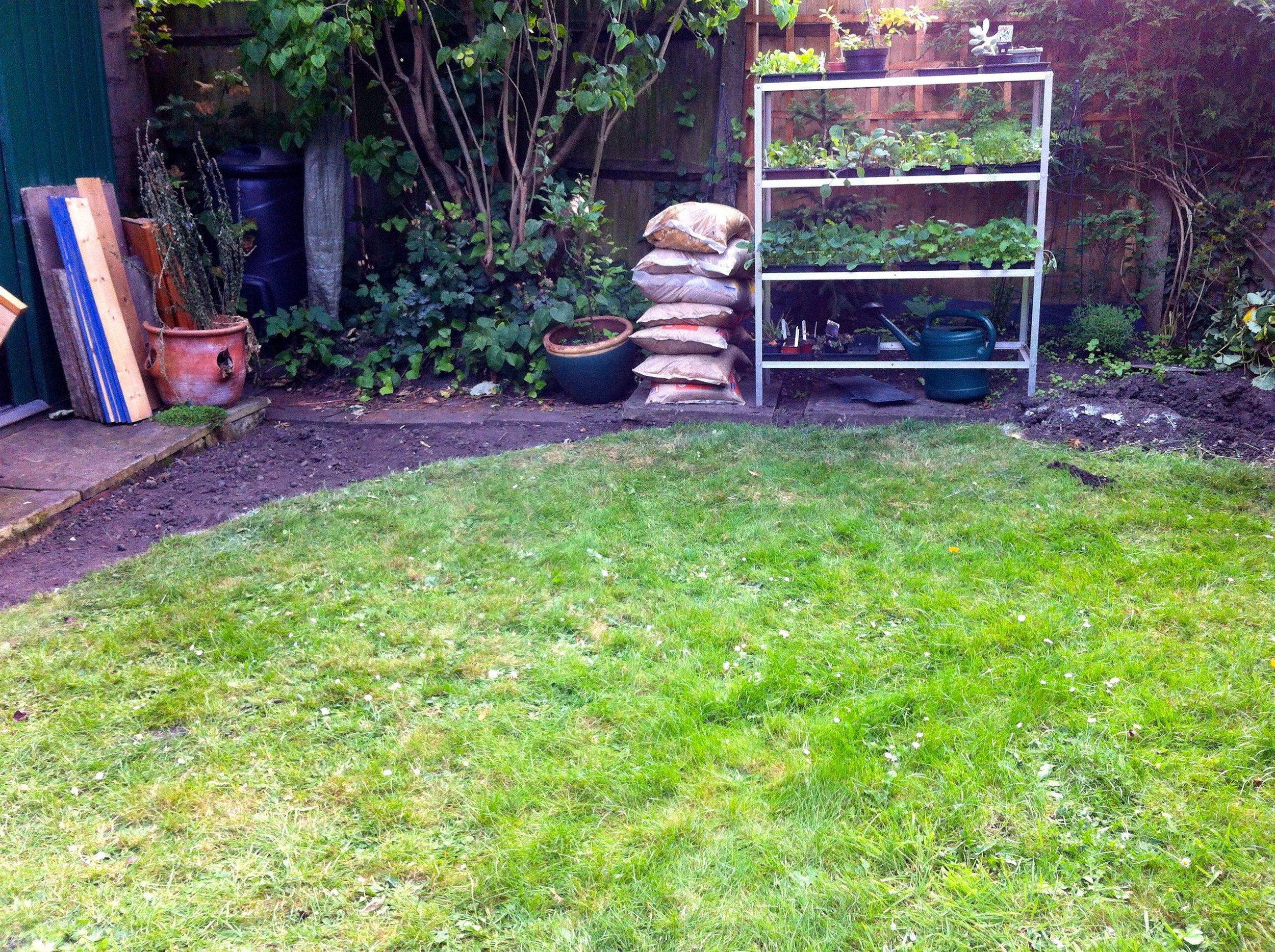 Stepping back and admiring our circular lawn