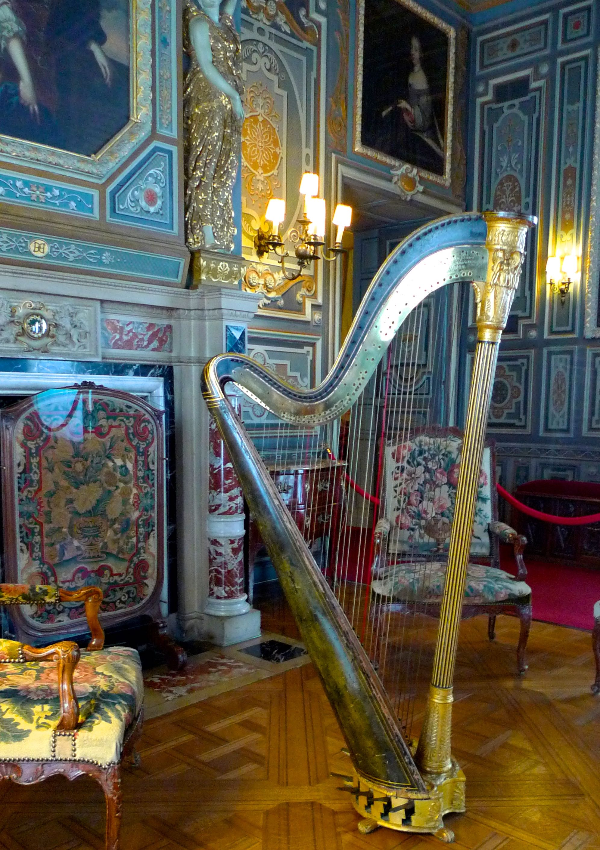 Opulence galore and with a harp too