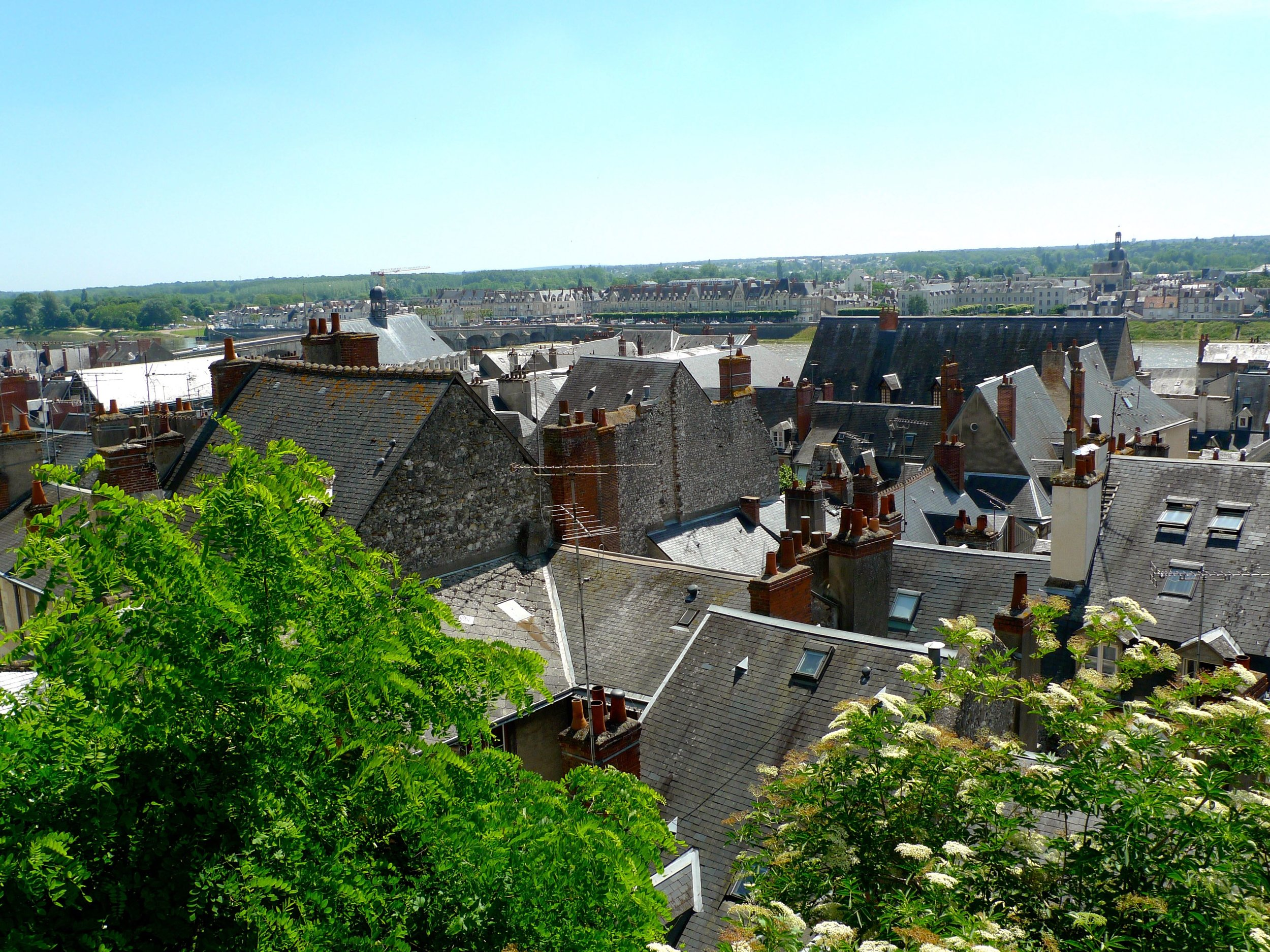 Looking at the rooftops of Blois from the chateau