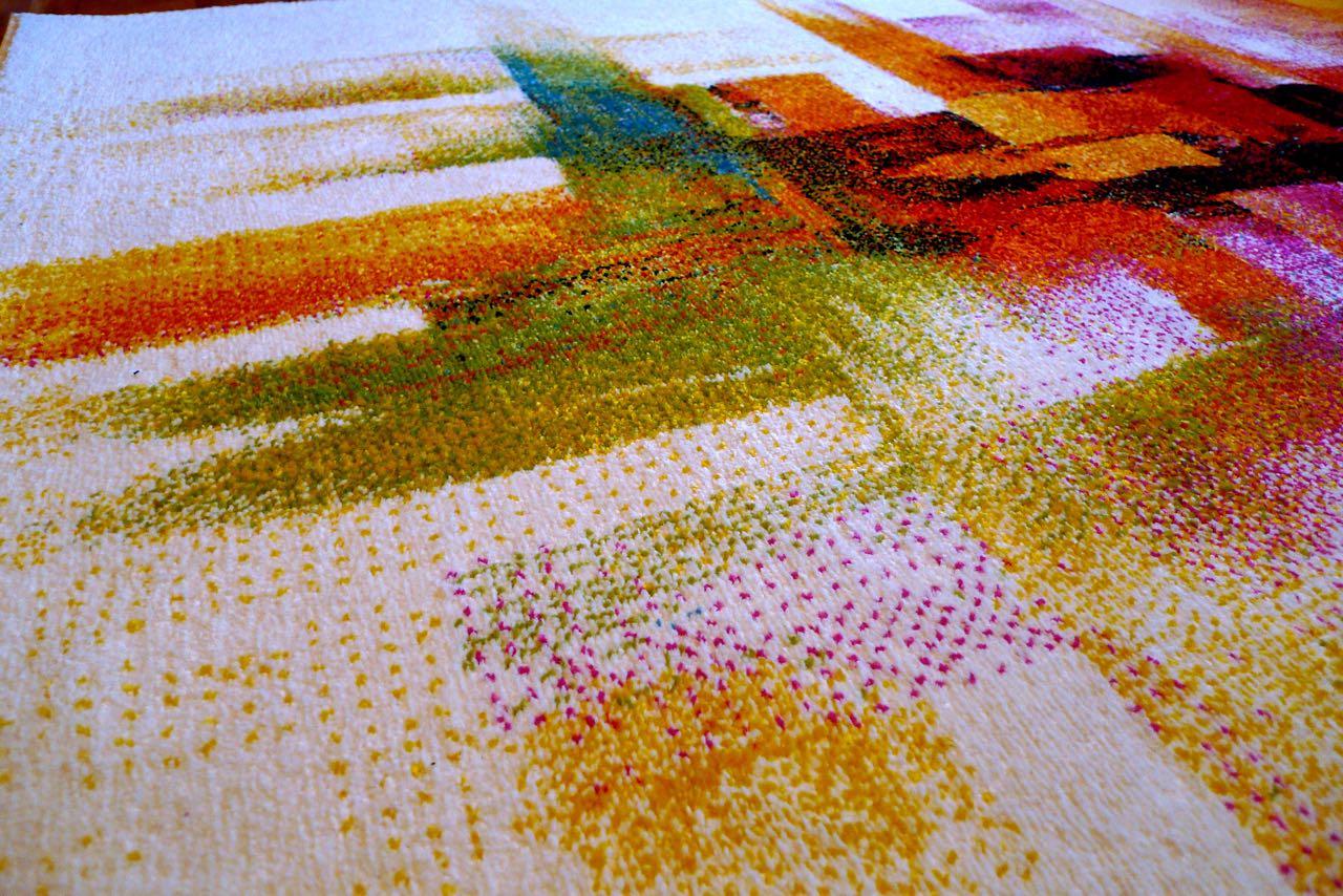 Impressionist rug close up