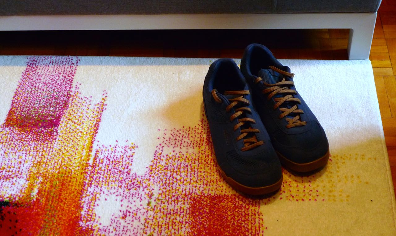 shoes on my new rug
