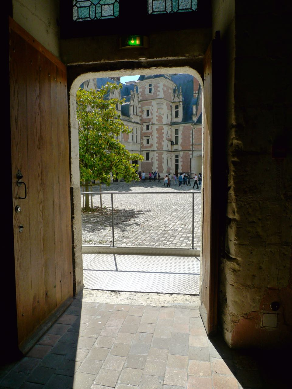 A view back into the impressive courtyard