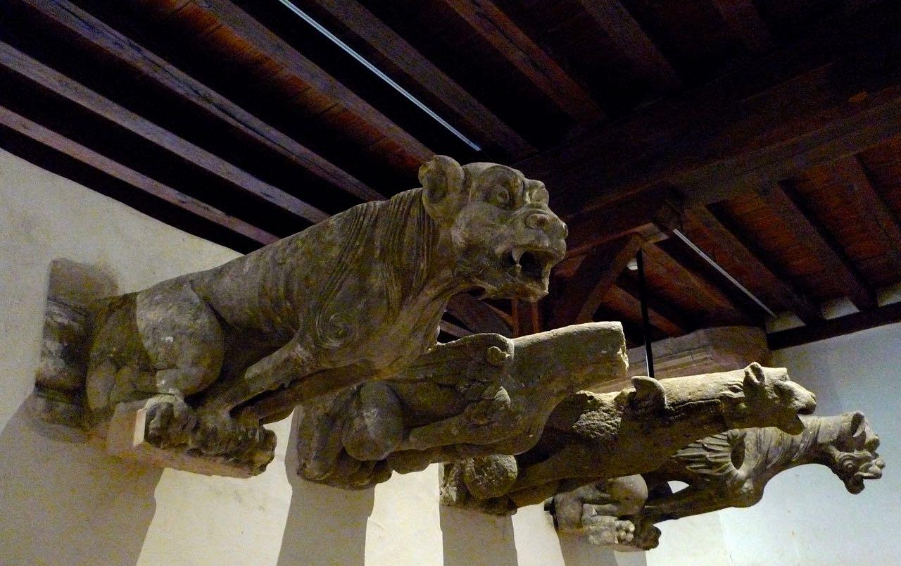 A collection of gargoyles in Blois