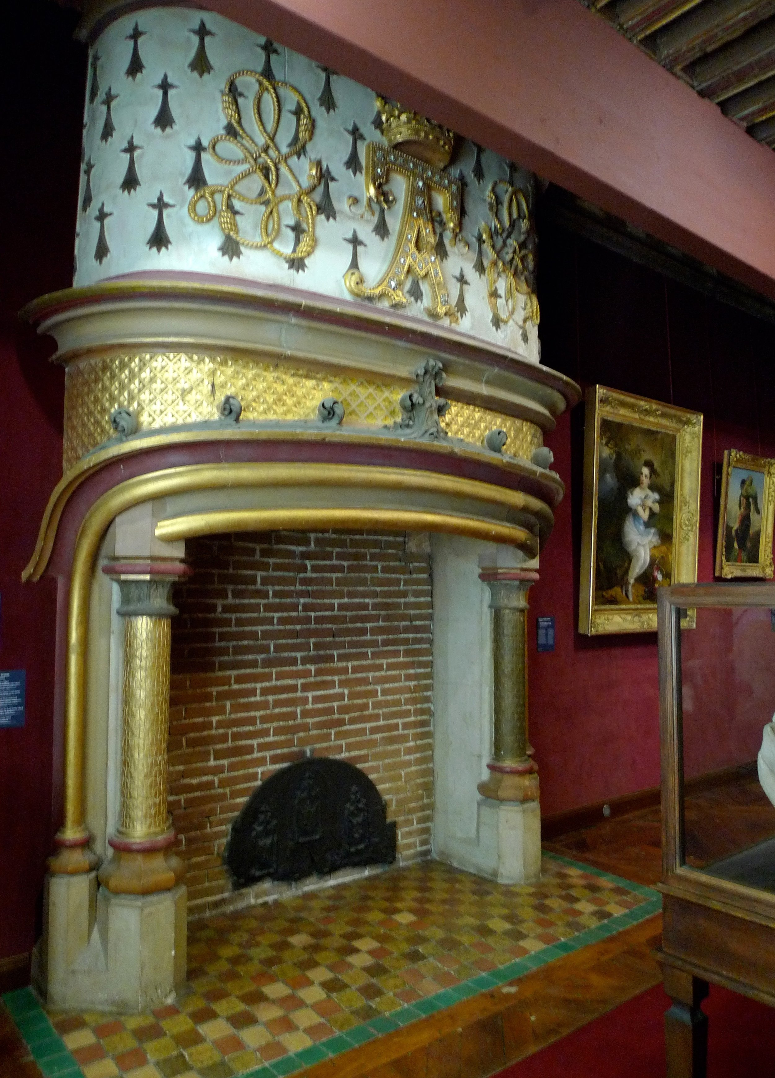 And yes, there are a lot of fireplaces in the chateau