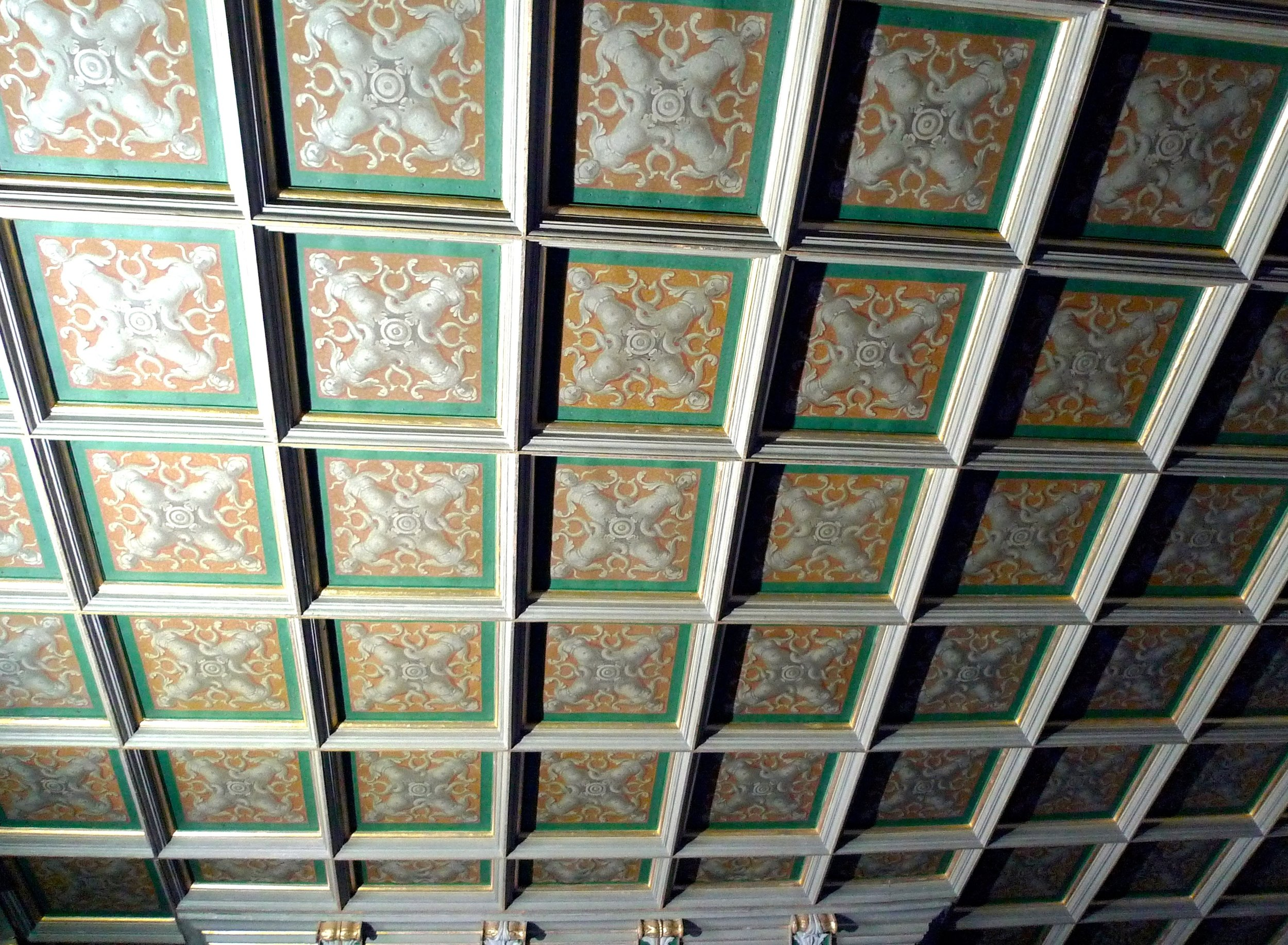 The ceiling in the Counsel room