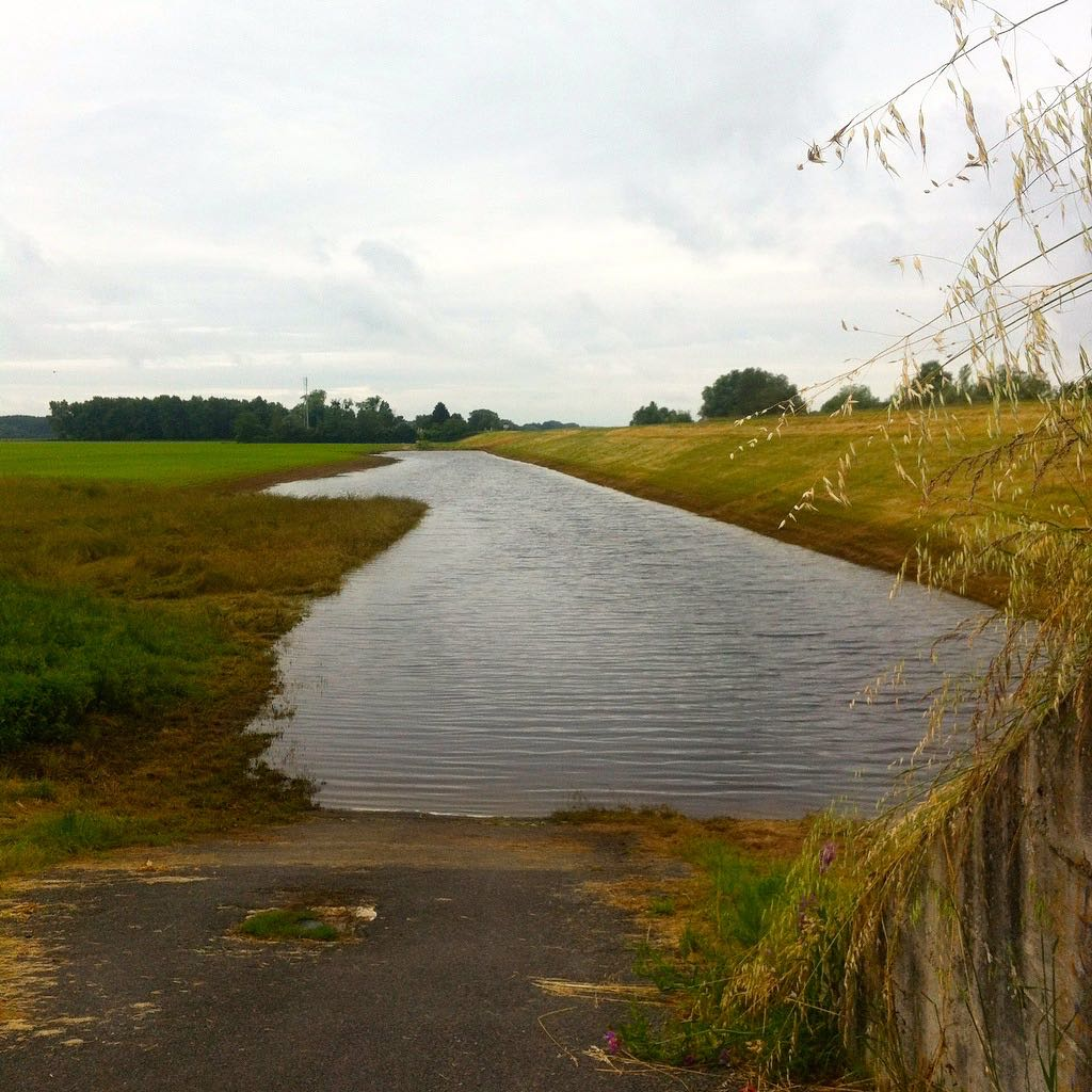 This Loire a Velo path was slightly shut