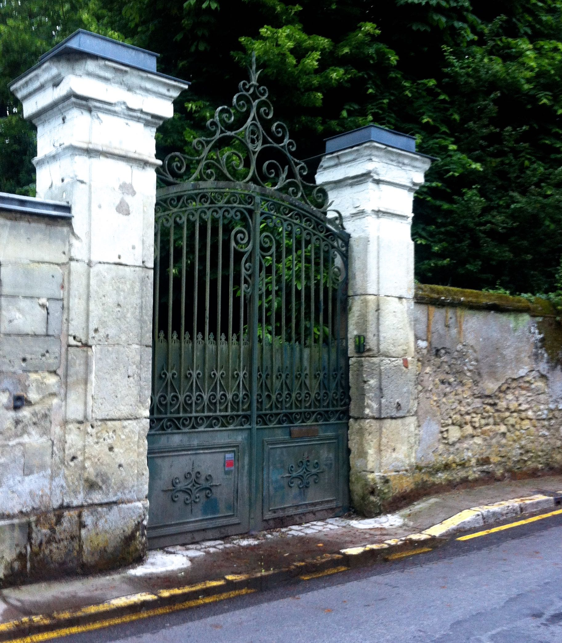 Wrought iron gates full of character