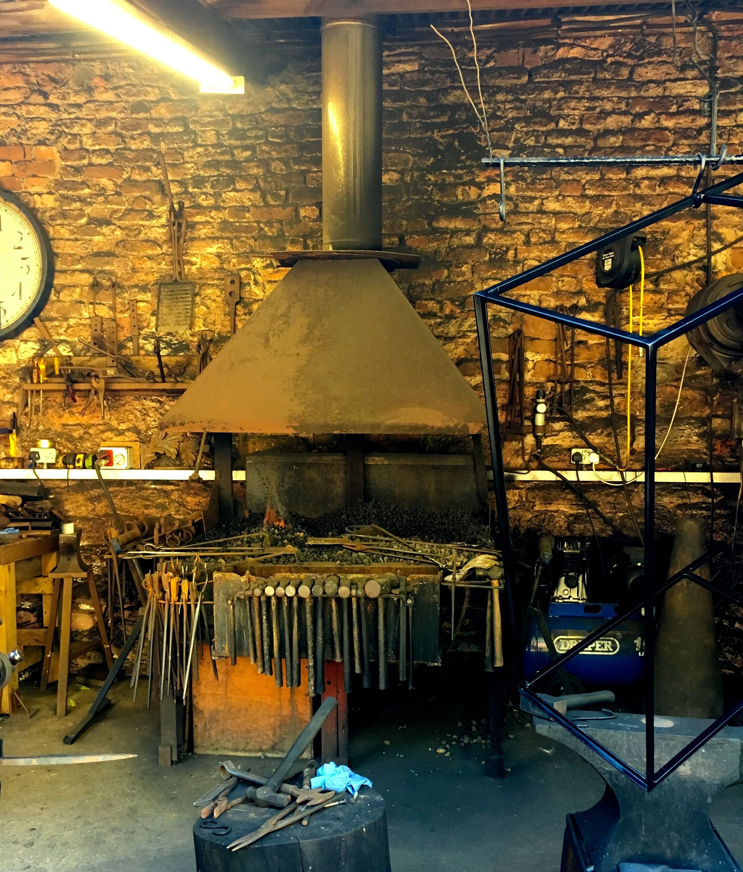 The forge at Cockington Craft studios