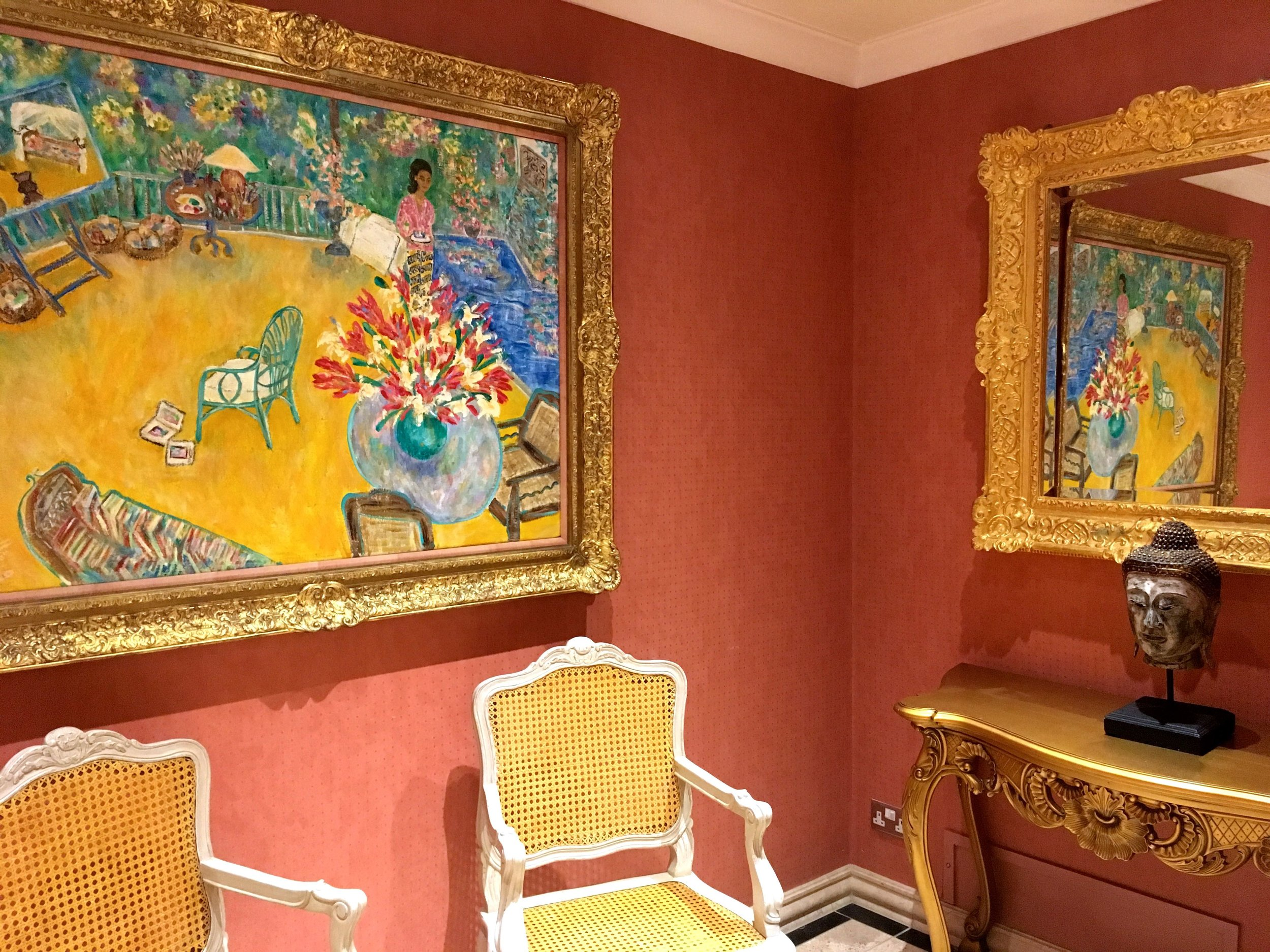 the colourful ante room