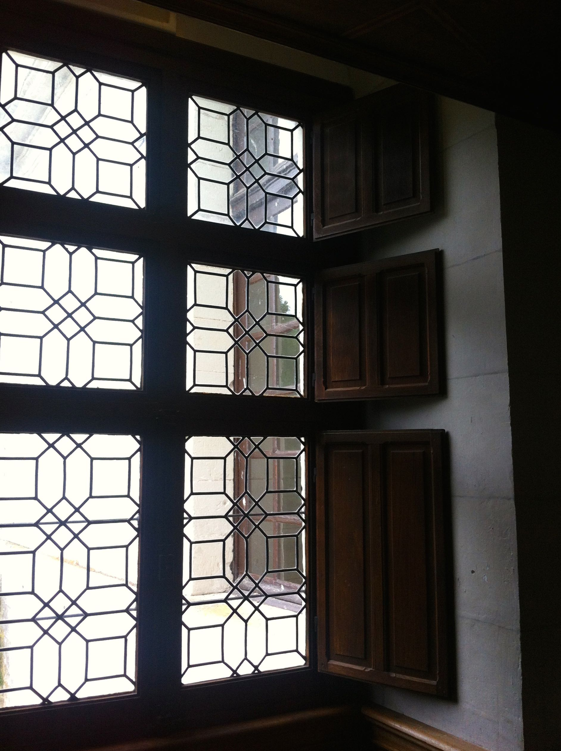 leaded windows at chateau de chenonceau