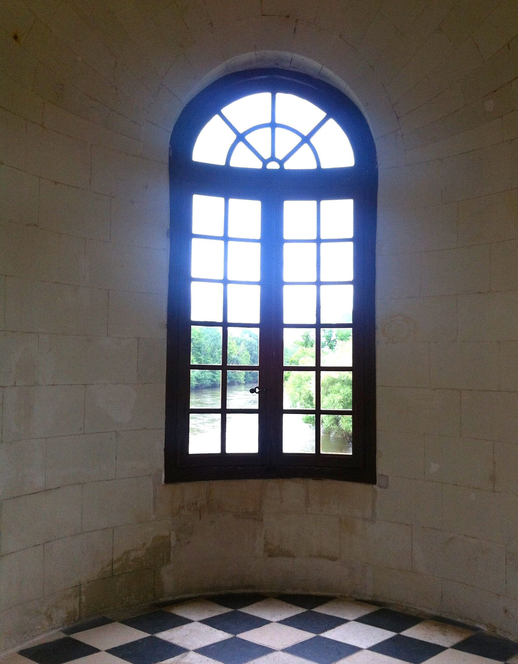 An arched window in The Gallery