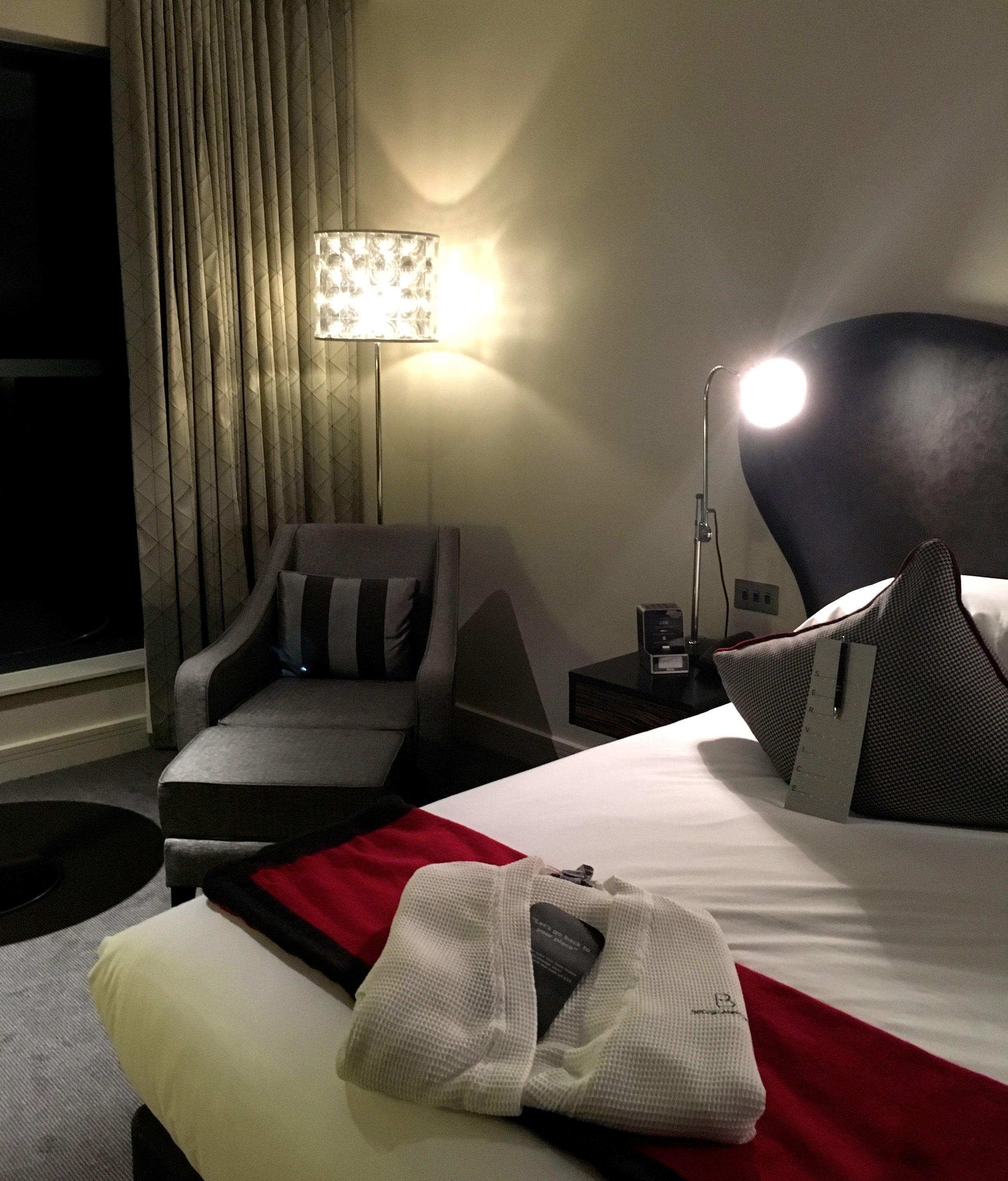 Our room at Brooklands hotel in Weybridge