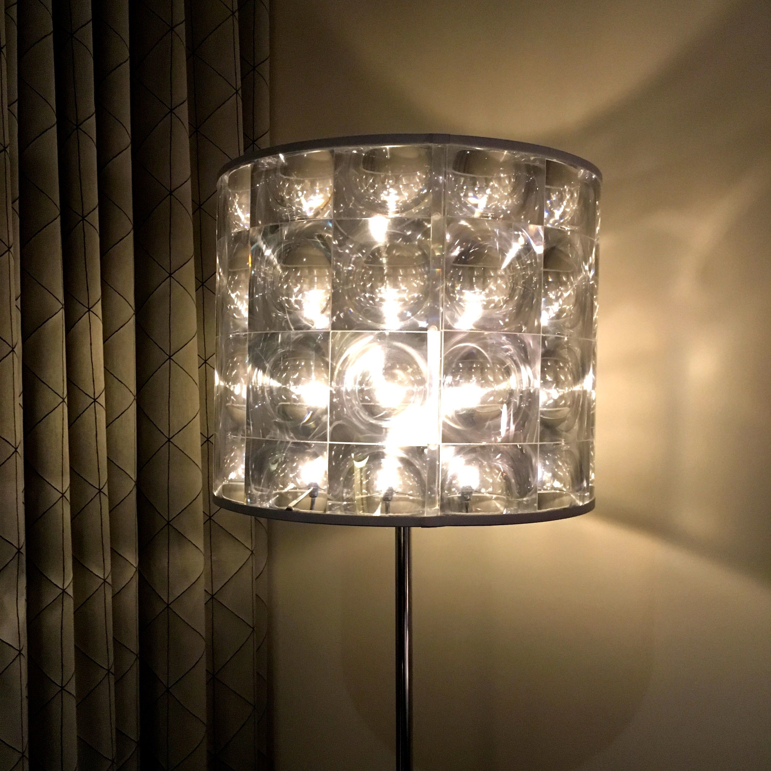 Brooklands Hotel in Weybridge, and a funky standard light too