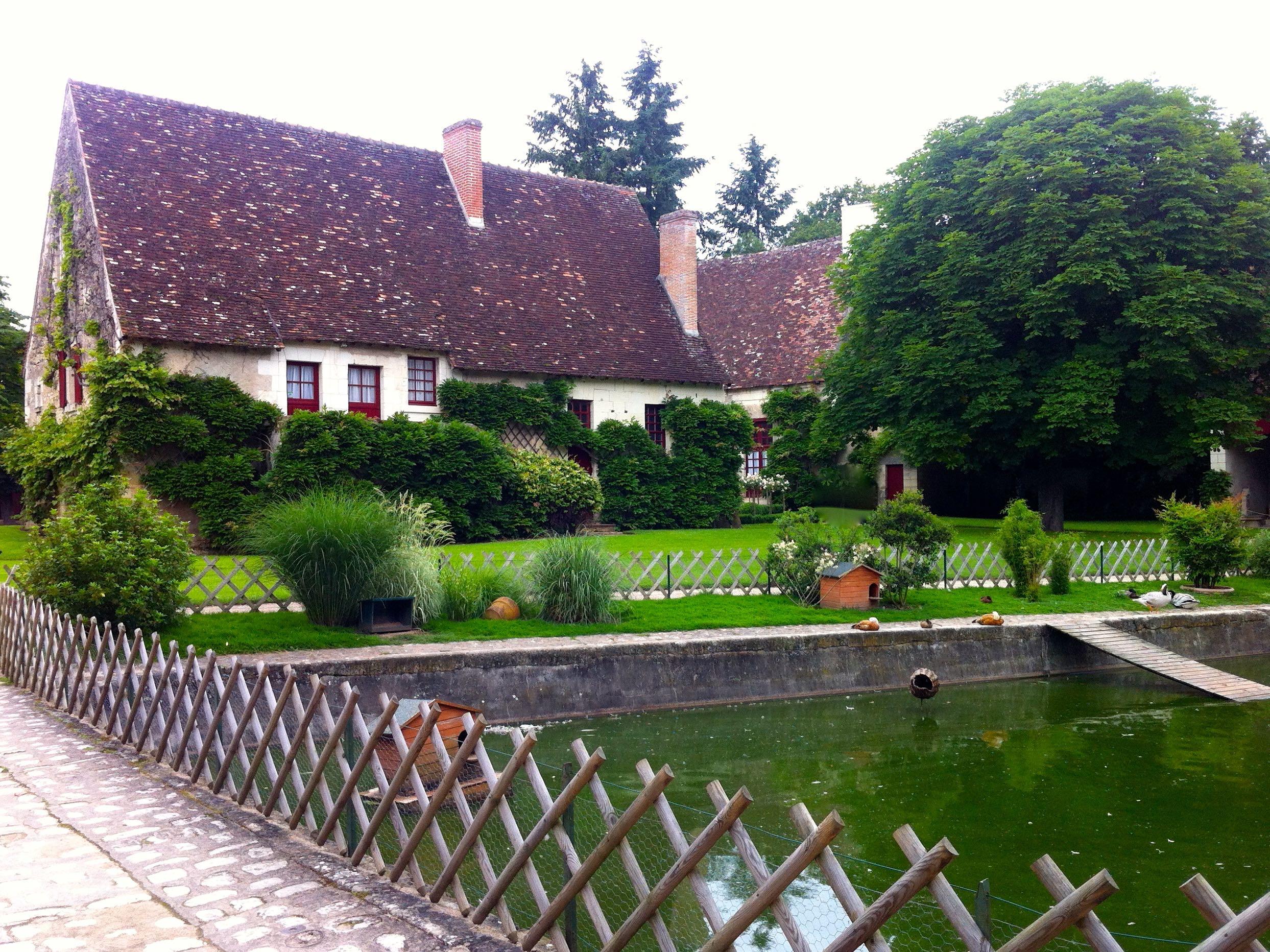The 16th century farm buildings at chateau de chenonceau