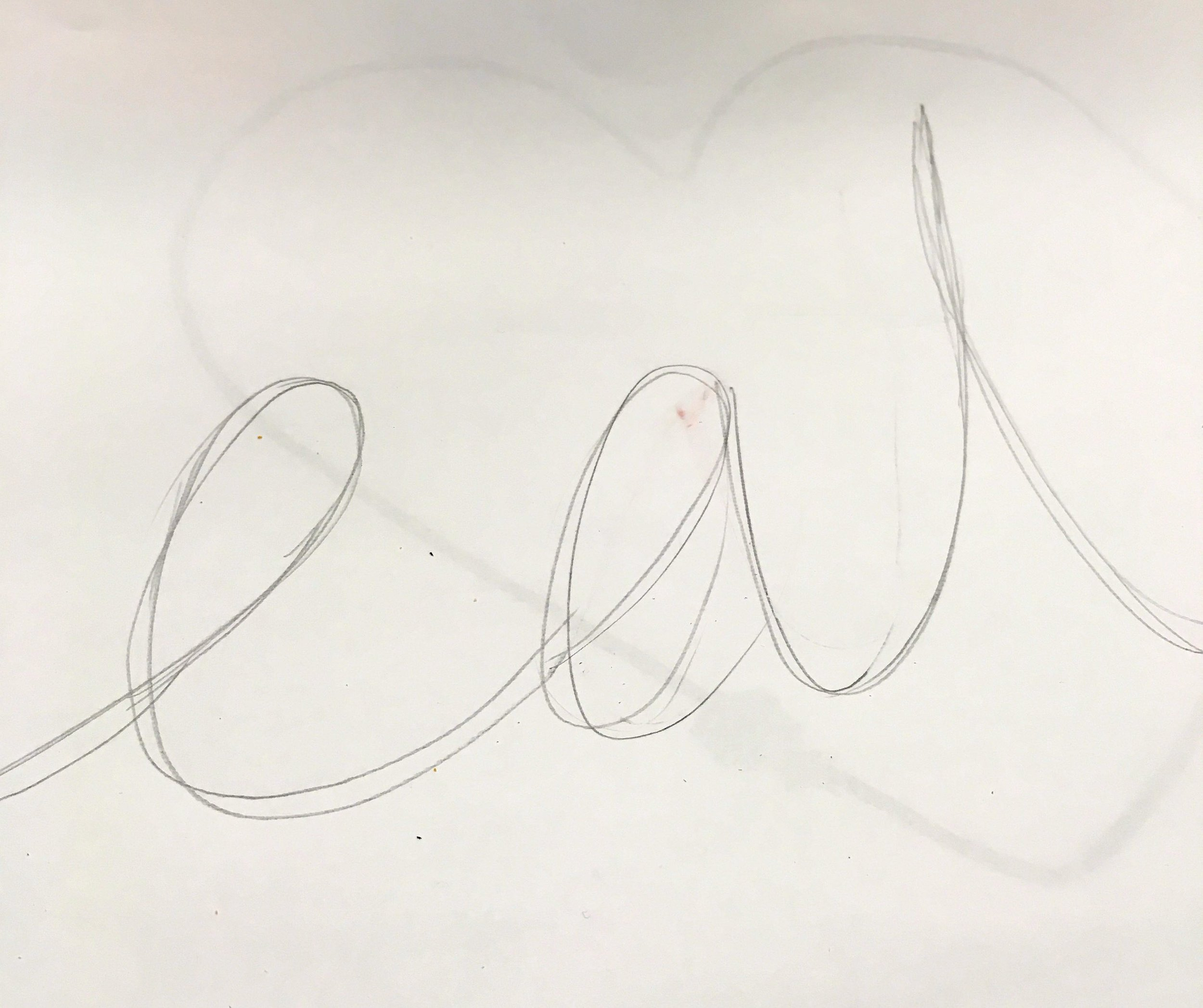 Drawing my design for my neon sign