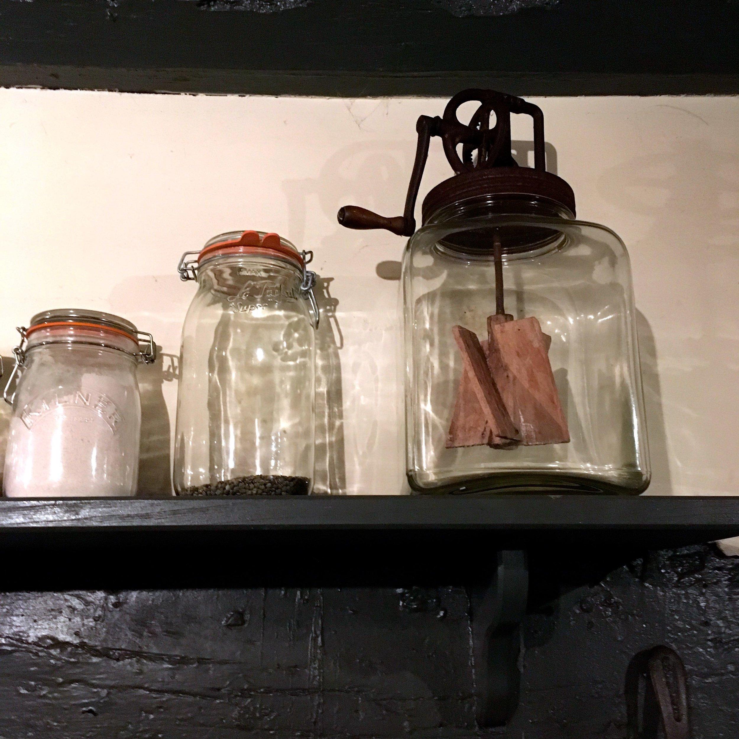 kitchen paraphernalia in the farmhouse at River Cottage HQ