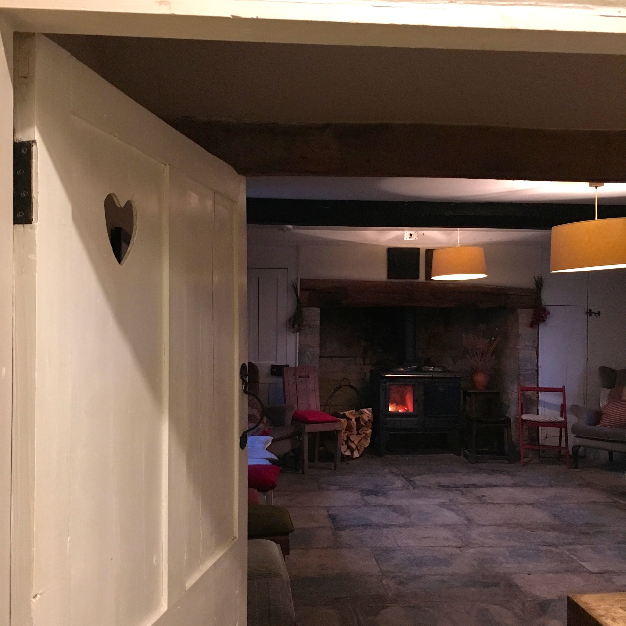 Inside the snug in the farmhouse at River Cottage HQ