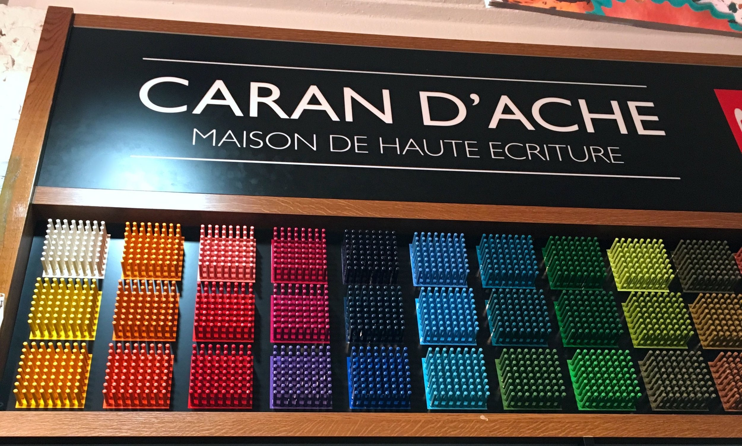 Caran d'Ache - I made a beeline for these when I arrived at the London Graphic Centre