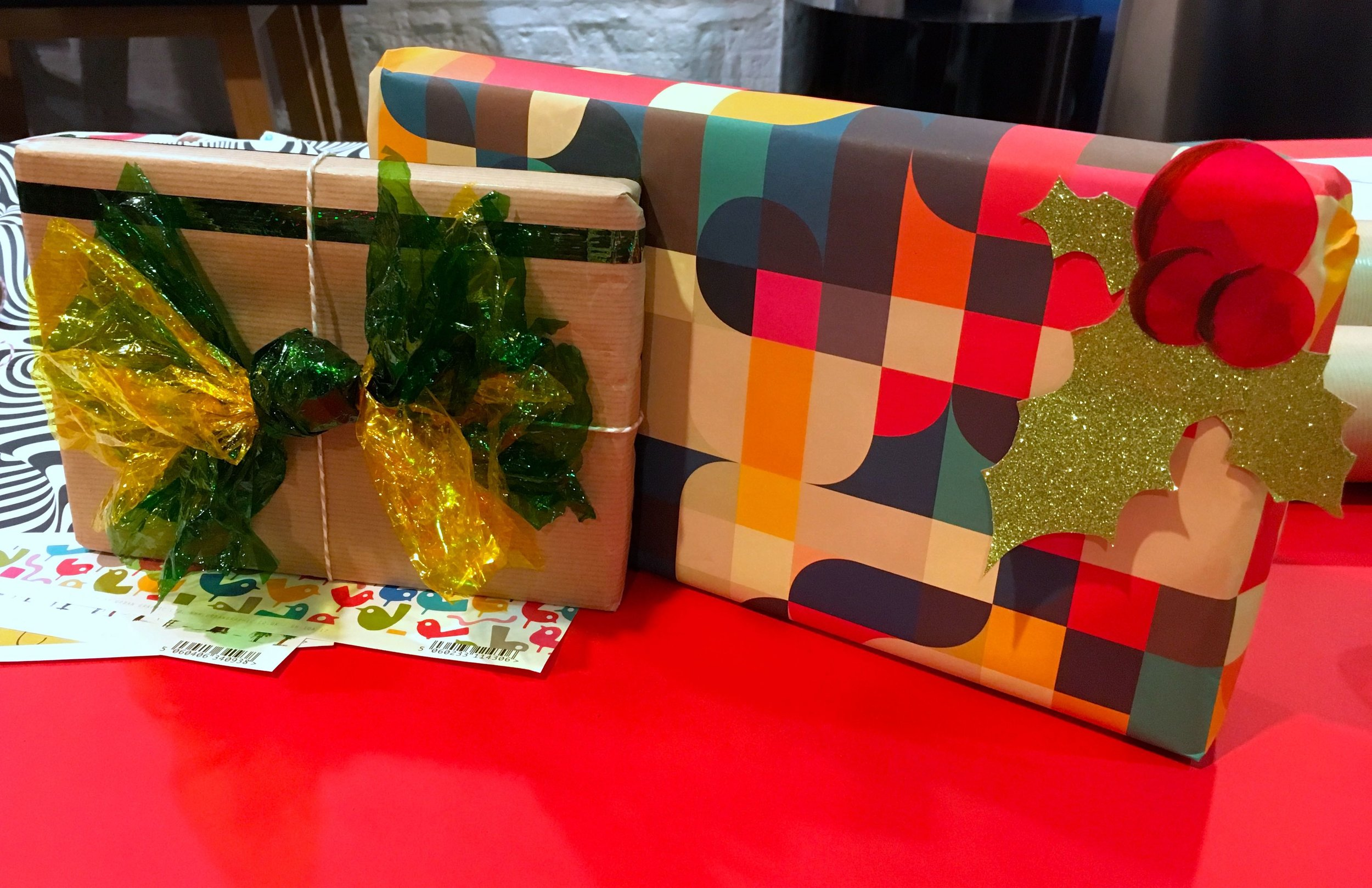 The presents we wrapped as part of the #LGCChristmasWrap